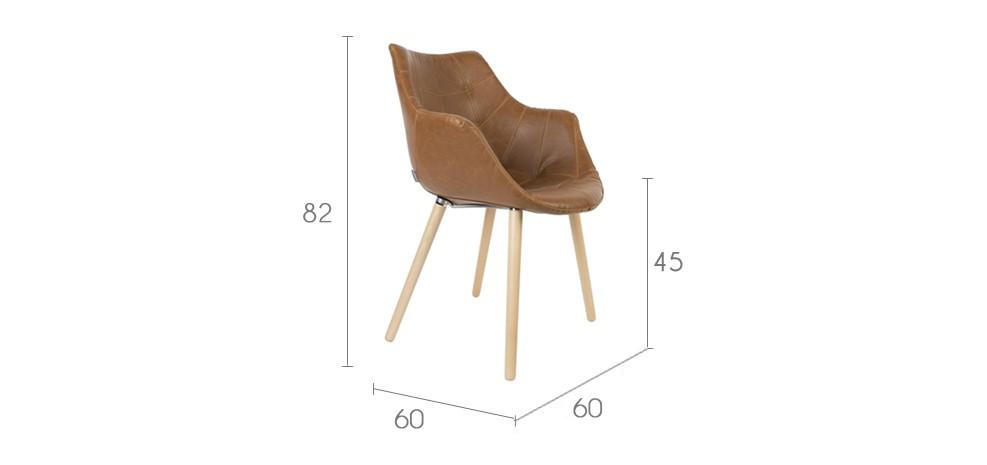 chaise anders marron zuiver achetez nos chaises anders marron zuiver design rdv d co. Black Bedroom Furniture Sets. Home Design Ideas