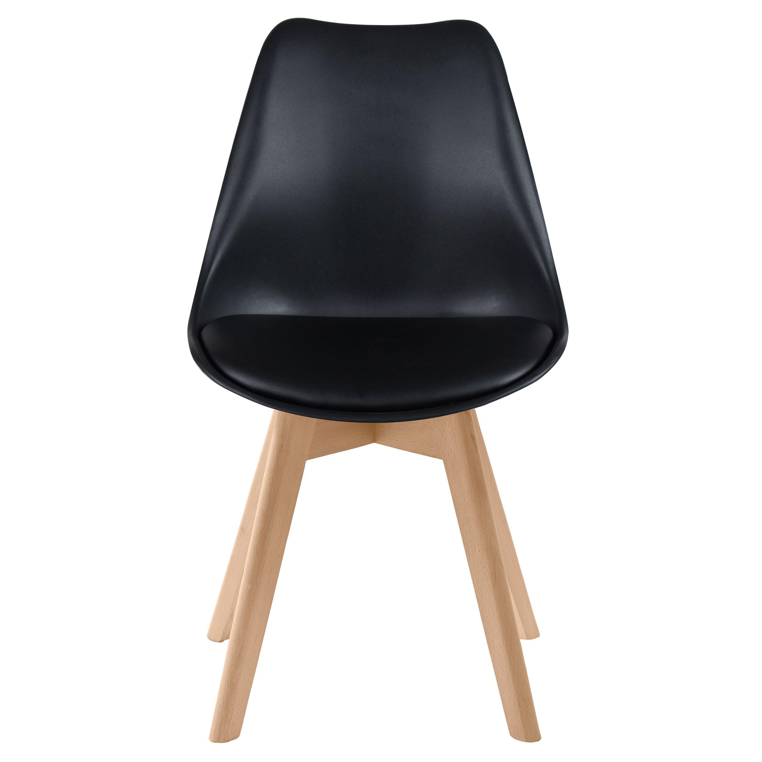 Chaise skandi noire lot de 2 achetez nos chaises for Acheter chaise design