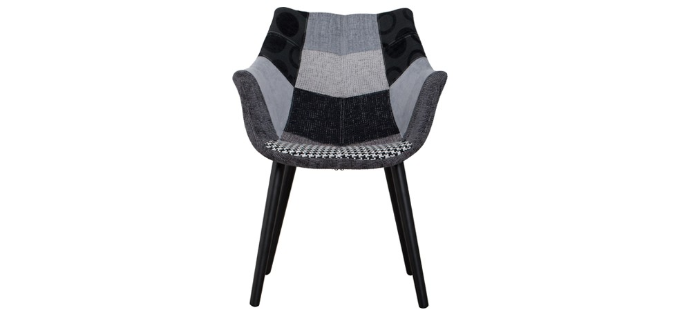chaise anders patchwork grise zuiver achetez nos chaises anders patchwork grise zuiver rdvd co. Black Bedroom Furniture Sets. Home Design Ideas