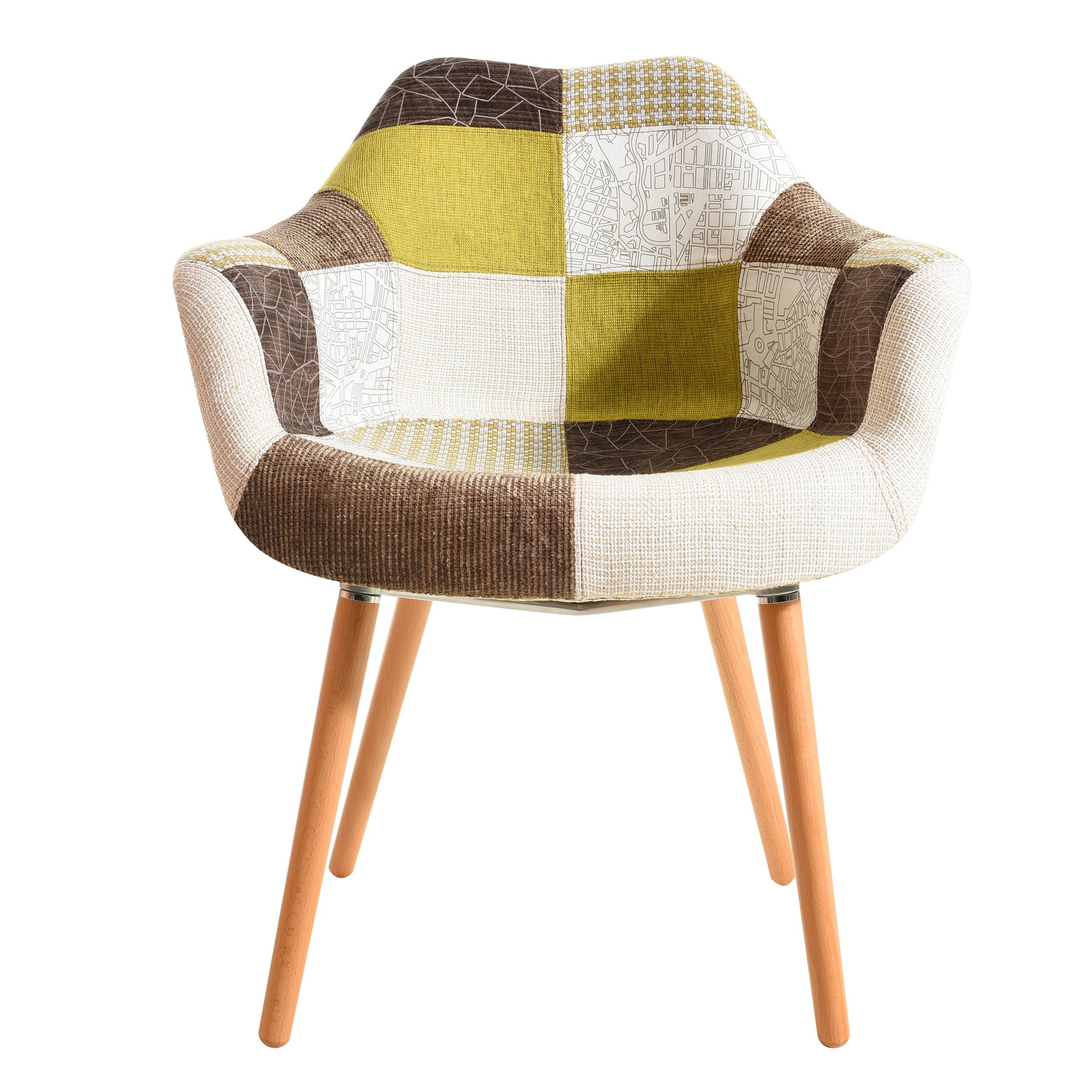 chaise anssen patchwork vert achetez nos chaises anssen patchwork vertes prix r duit rdv d co. Black Bedroom Furniture Sets. Home Design Ideas
