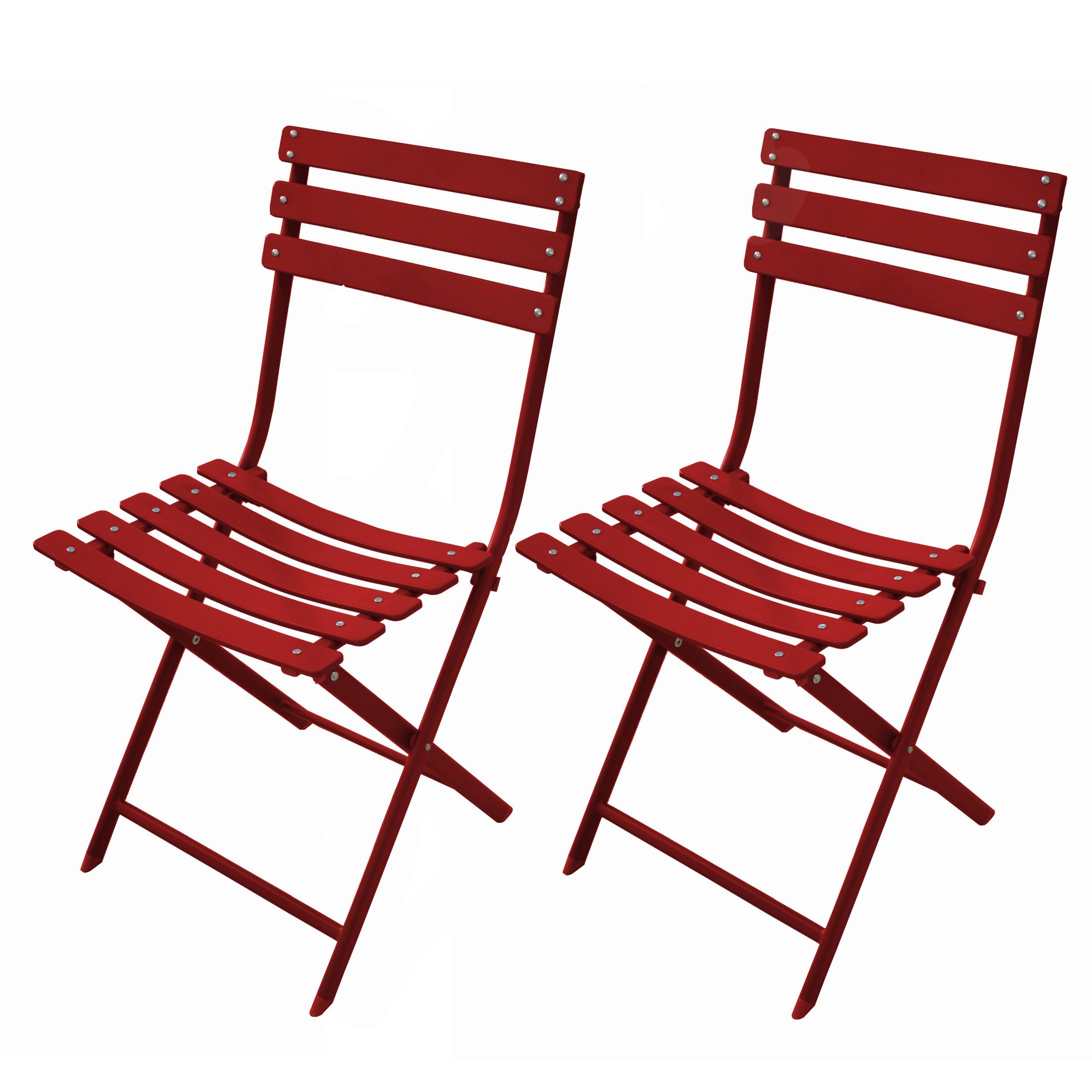 acheter chaise pliable rouge