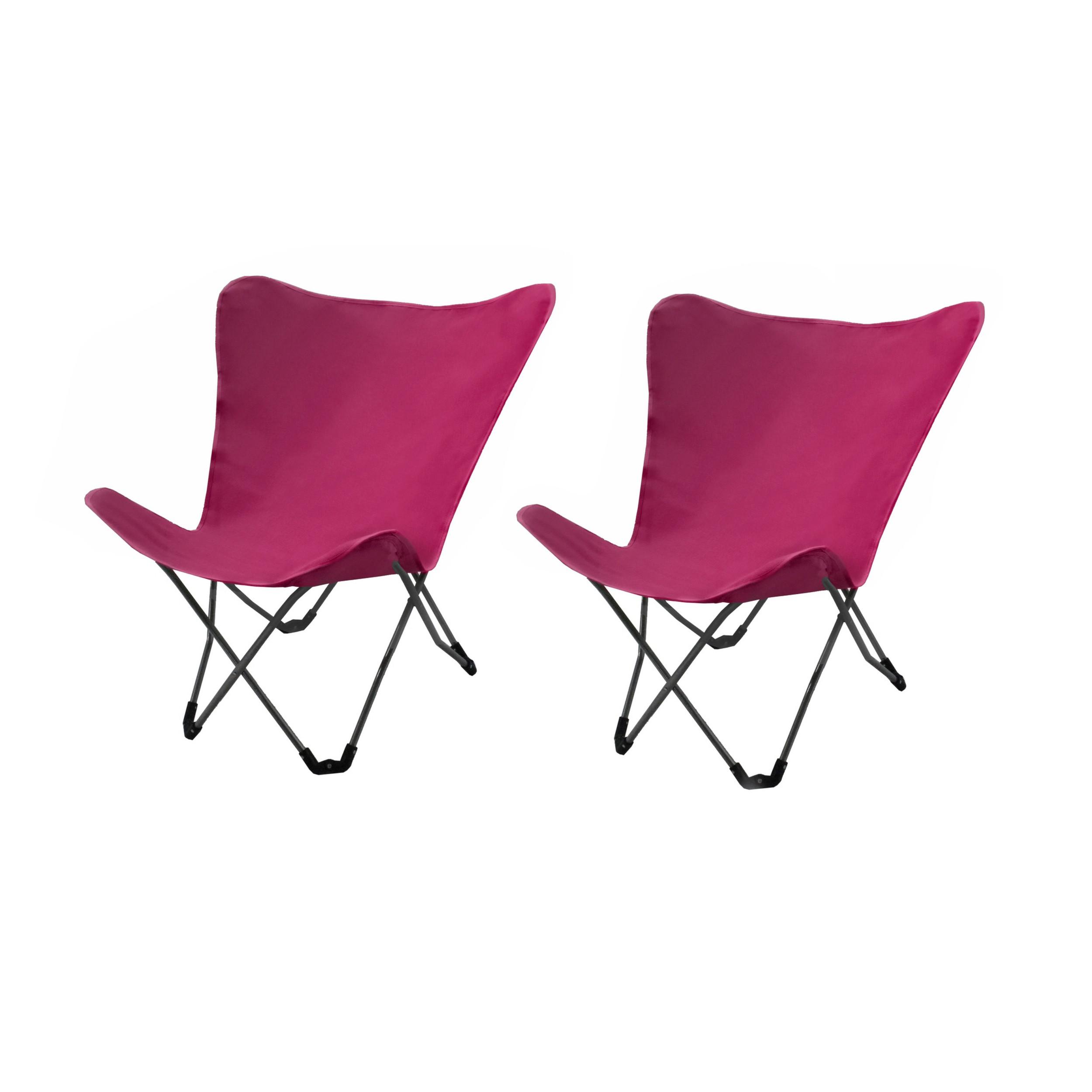 chaise d tente vitoria rose lot de 2 achetez les chaises d tente vitoria roses lot de 2. Black Bedroom Furniture Sets. Home Design Ideas