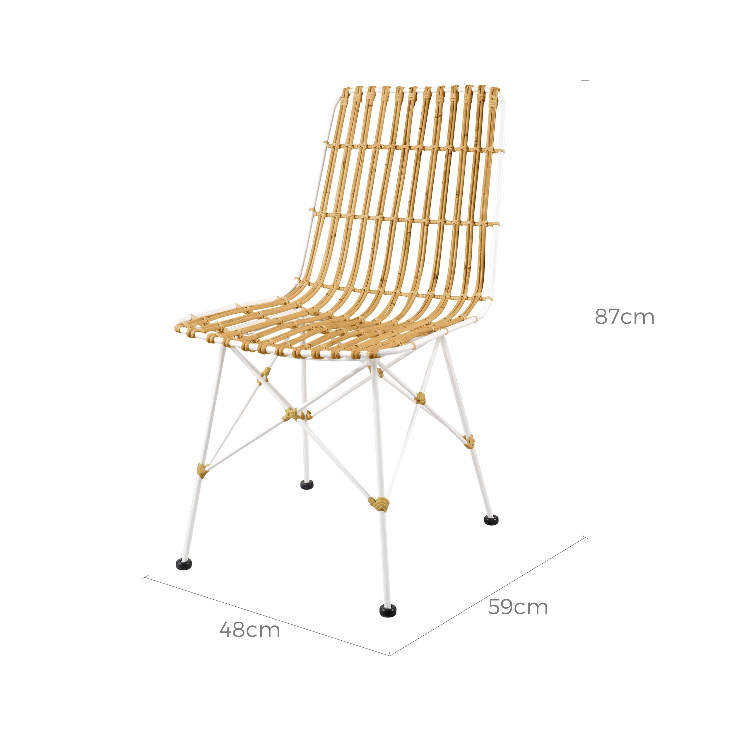 acheter chaise rotin naturel previous - Chaise En Rotin
