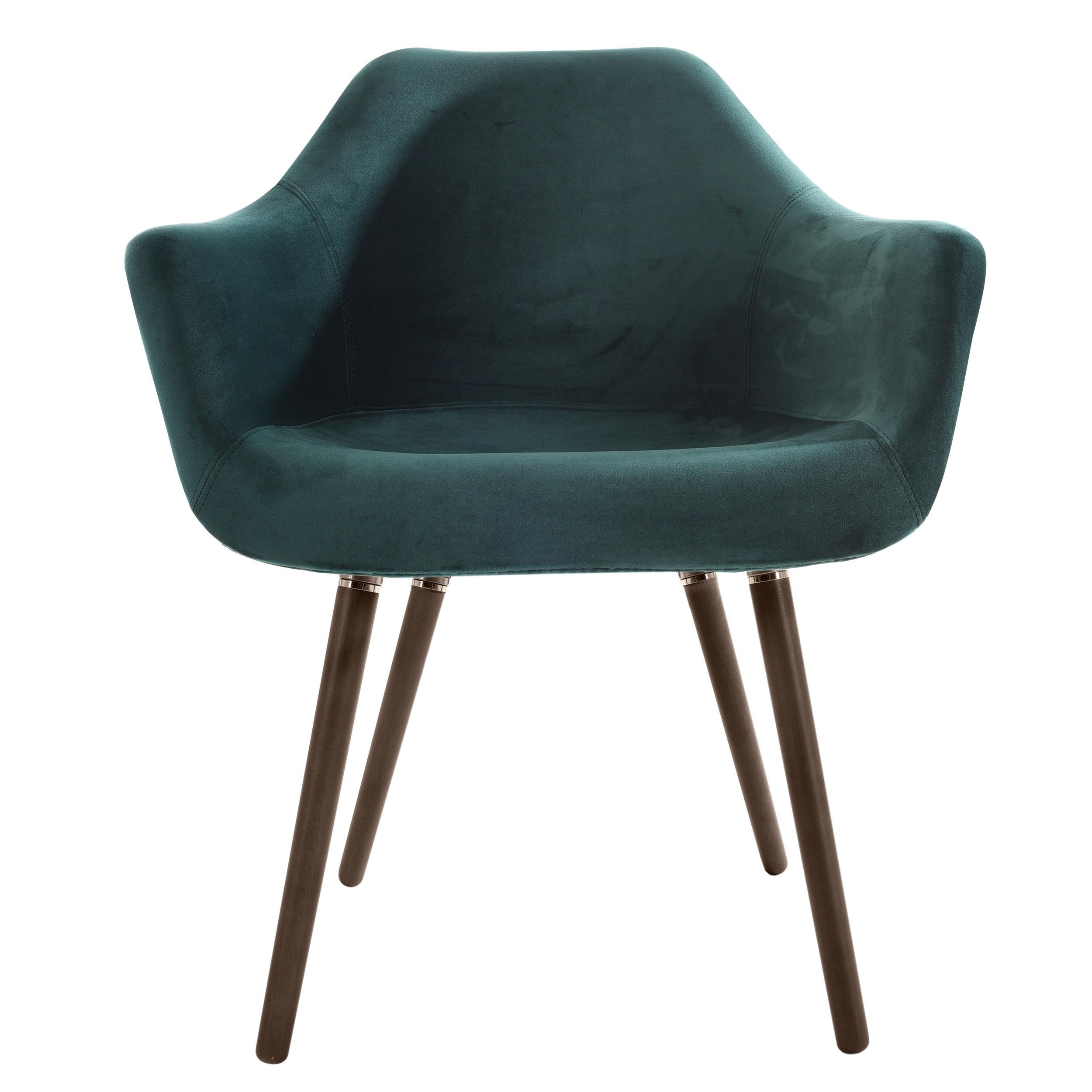 chaise anssen en velours vert commandez nos chaises. Black Bedroom Furniture Sets. Home Design Ideas