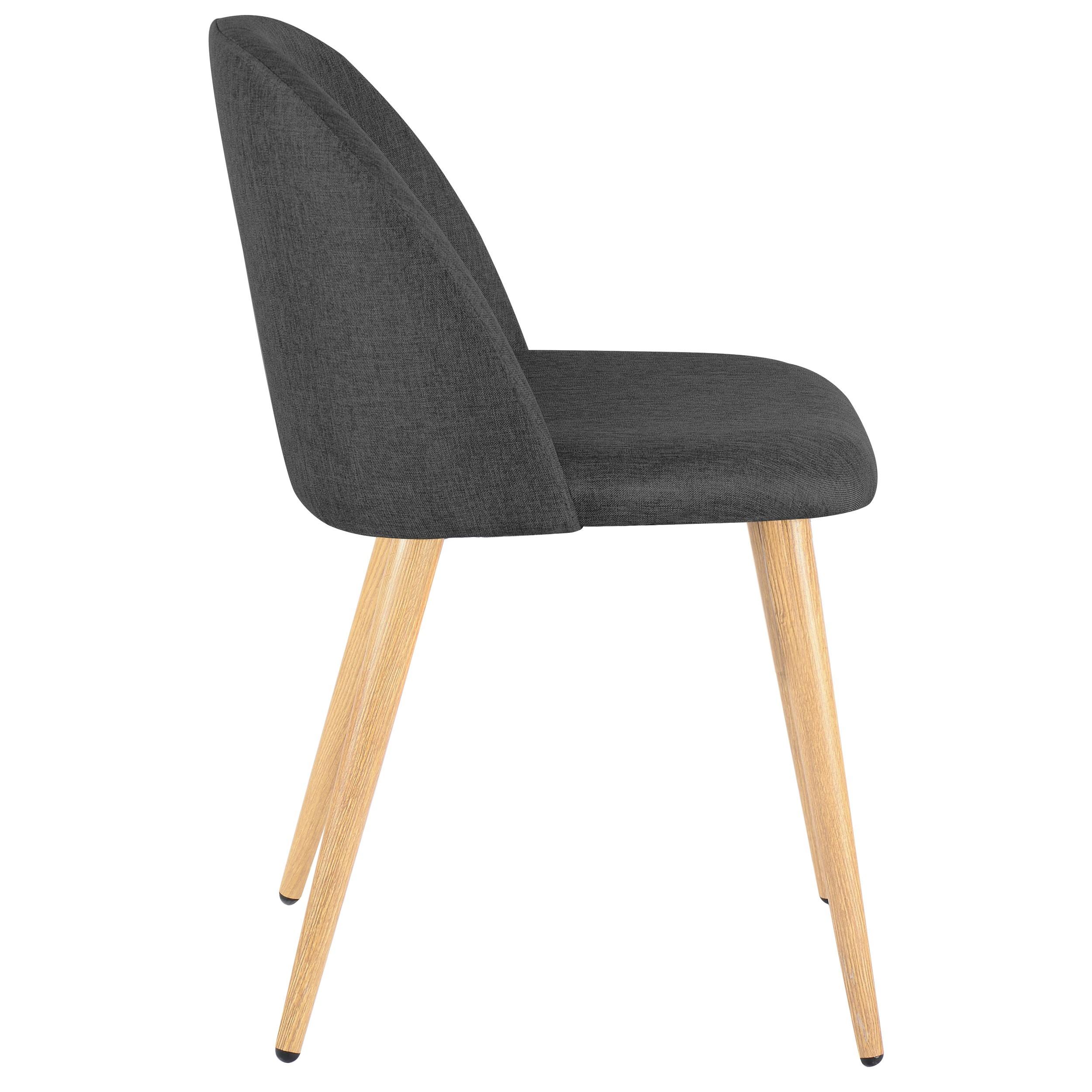 Chaise cozy grise lot de 2 commandez nos chaises cozy for Chaise 1er prix