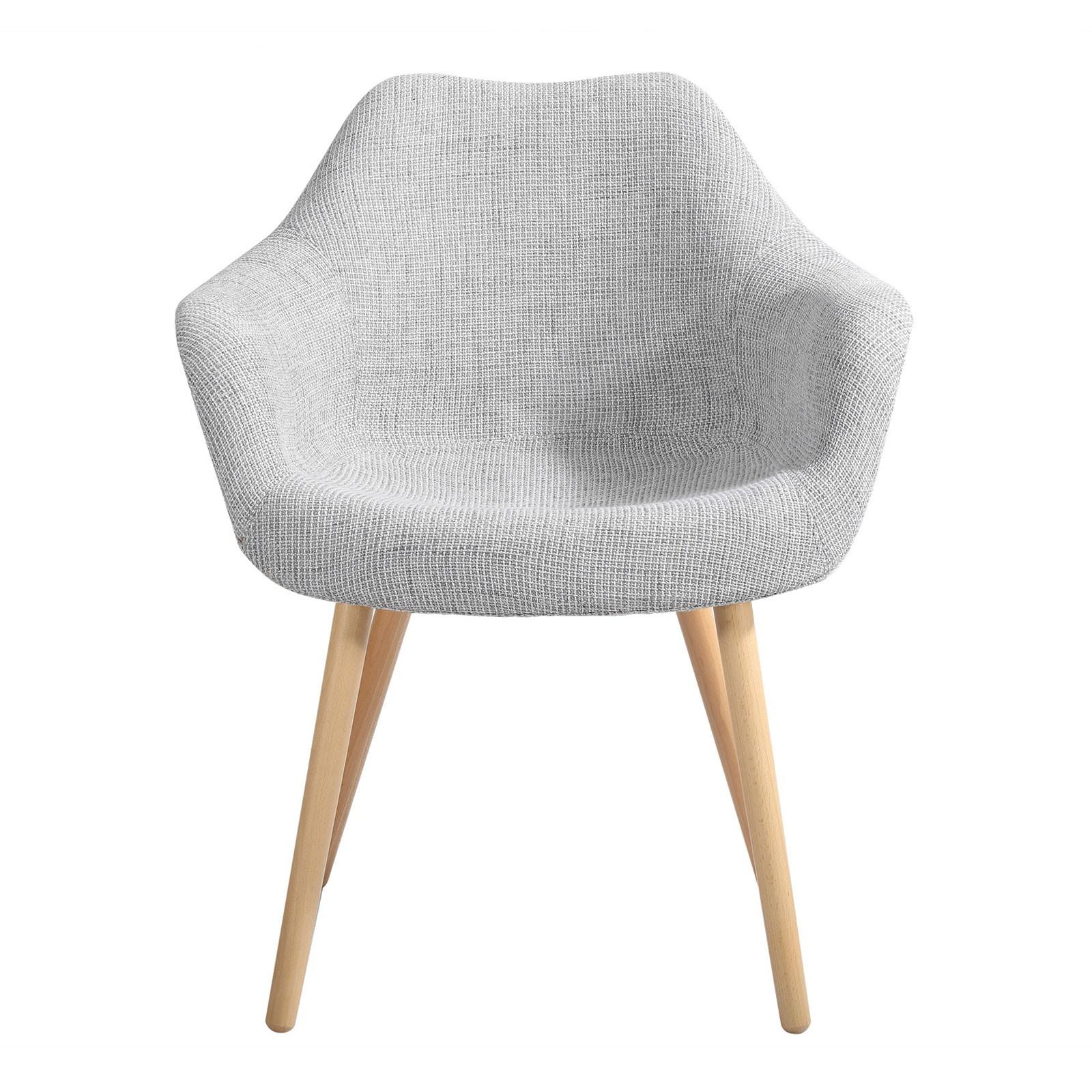 chaise grise anssen petit prix - Chaise Scandinave Grise