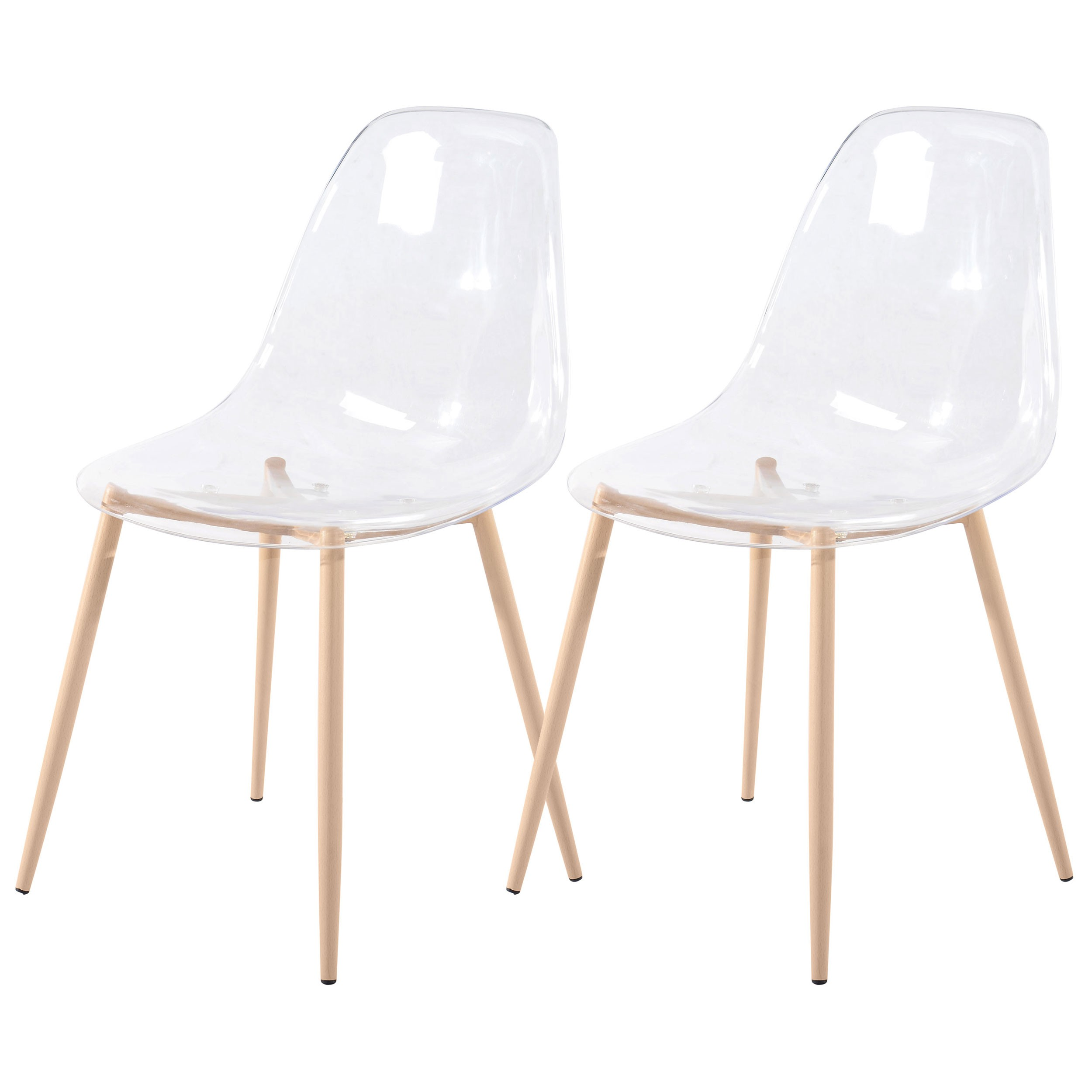 acheter chaise transparente scandinave - Chaises Scandinaves Transparentes