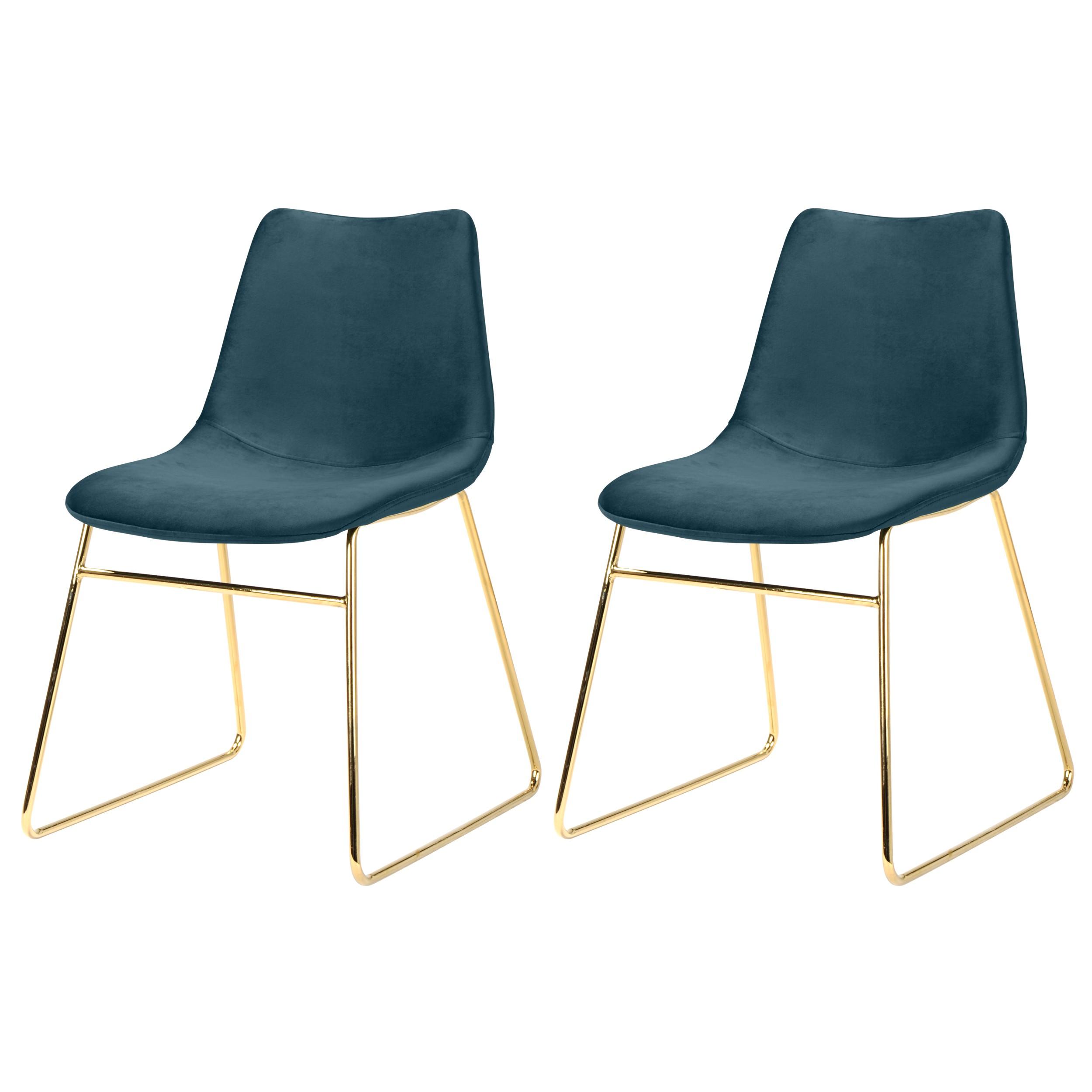 chaise gaspard en velours bleue lot de 2 adoptez nos chaises gaspard en velours bleues lot. Black Bedroom Furniture Sets. Home Design Ideas