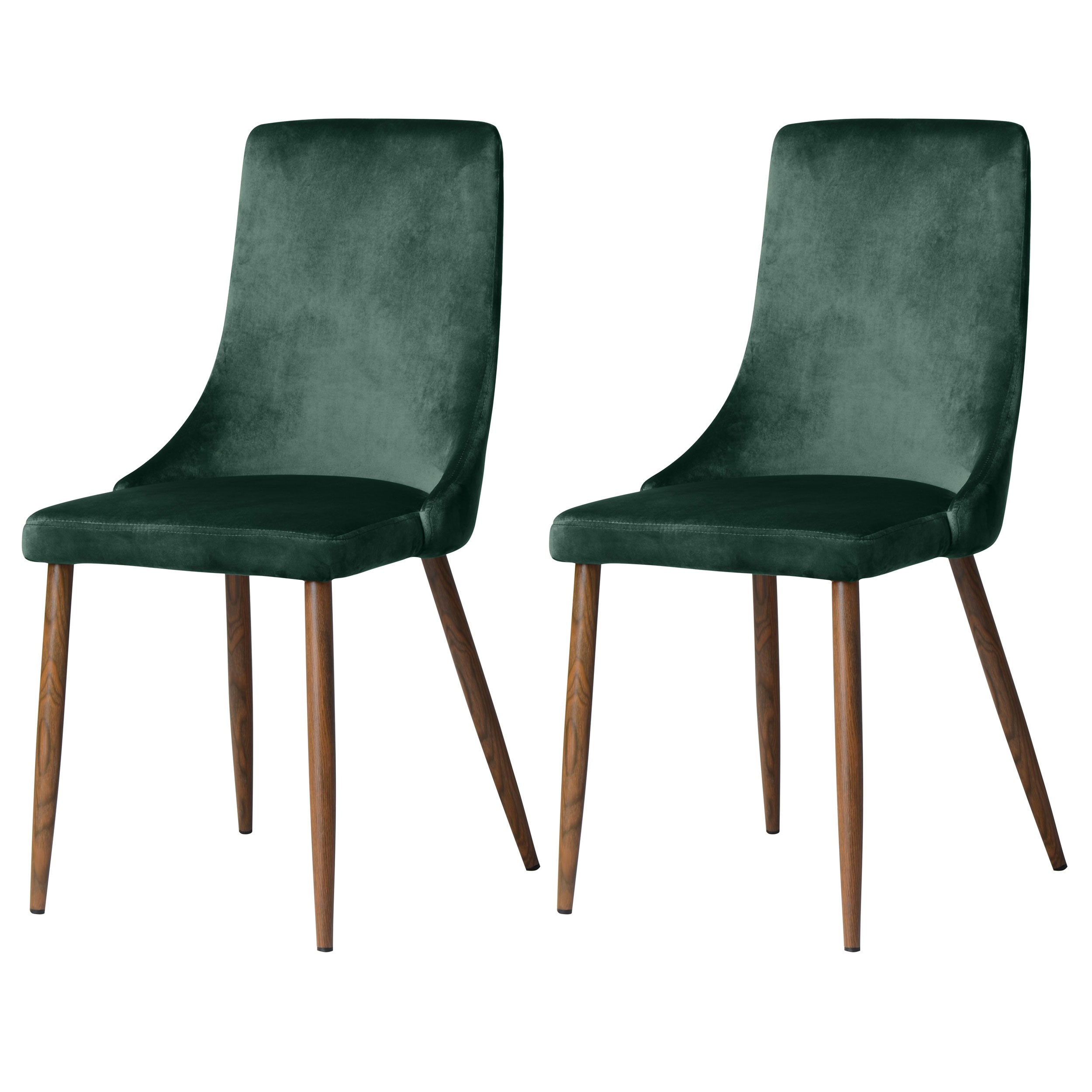 Chaise vinni en velours vert lot de 2 commandez nos for Chaise 1er prix