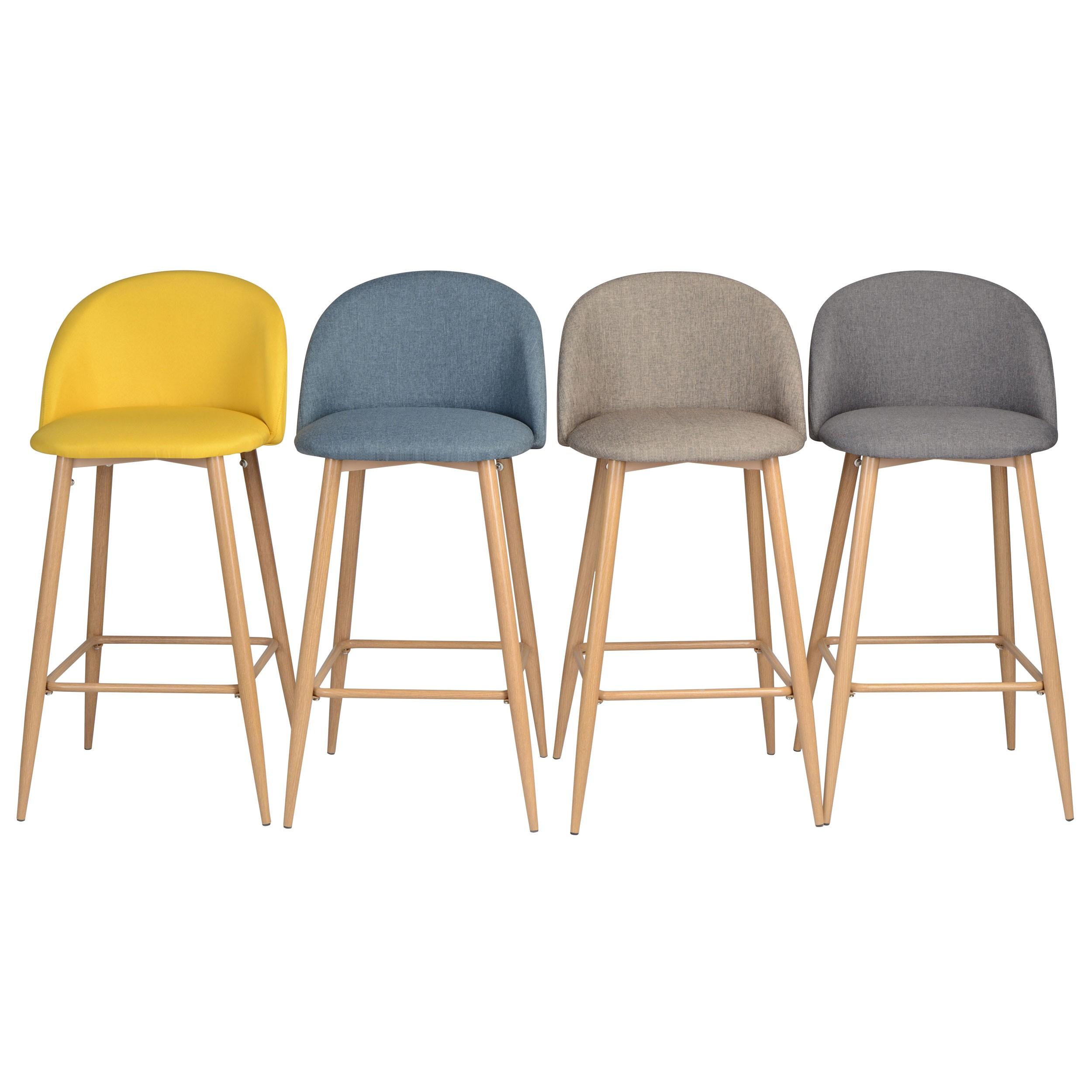 chaise de bar cozy grise lot de 2 achetez nos chaises de bar cozy grises lot de 2 rdv d co. Black Bedroom Furniture Sets. Home Design Ideas