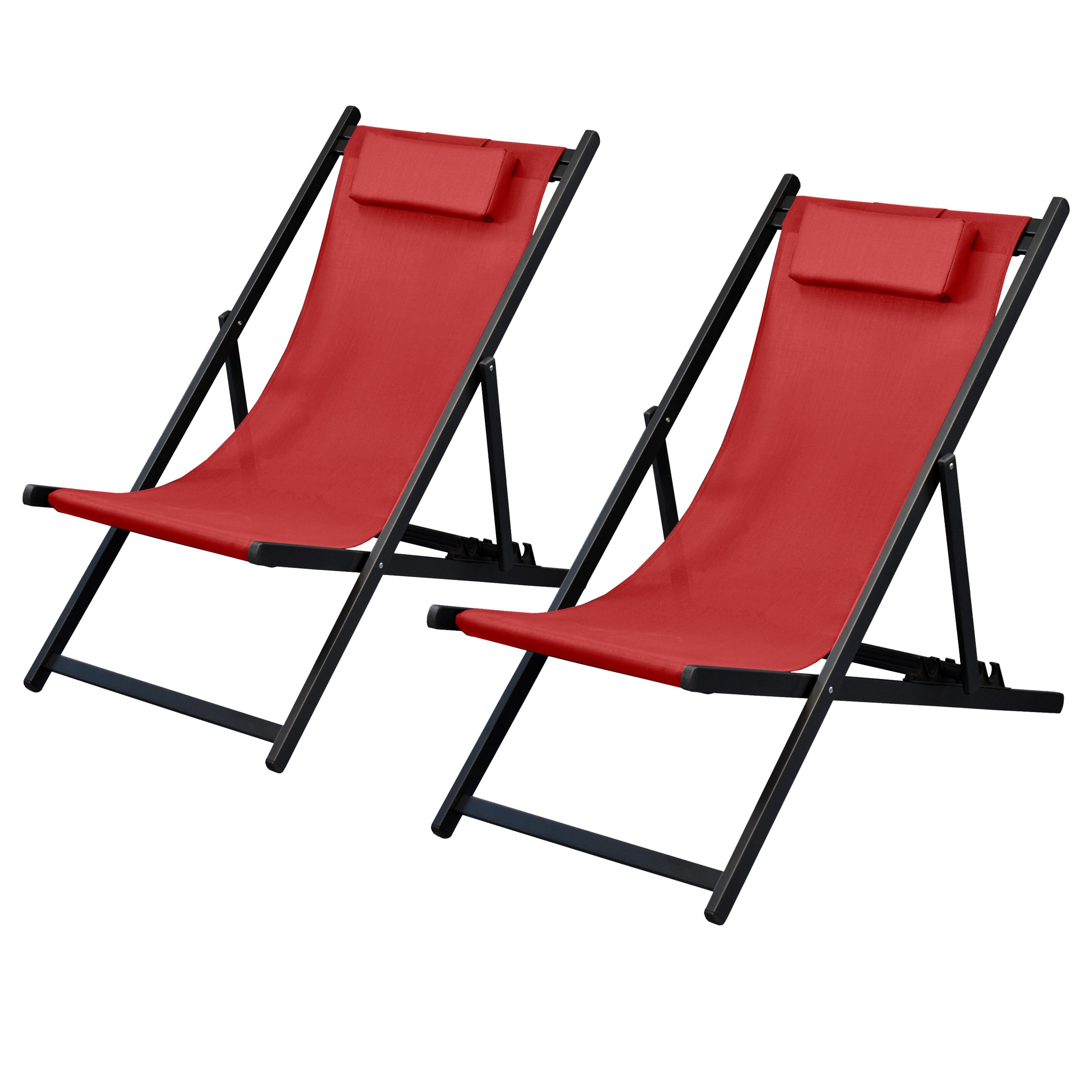 chaise longue calvi rouge cerise lot de 2 d couvrez nos chaises longues calvi rouges lot de. Black Bedroom Furniture Sets. Home Design Ideas