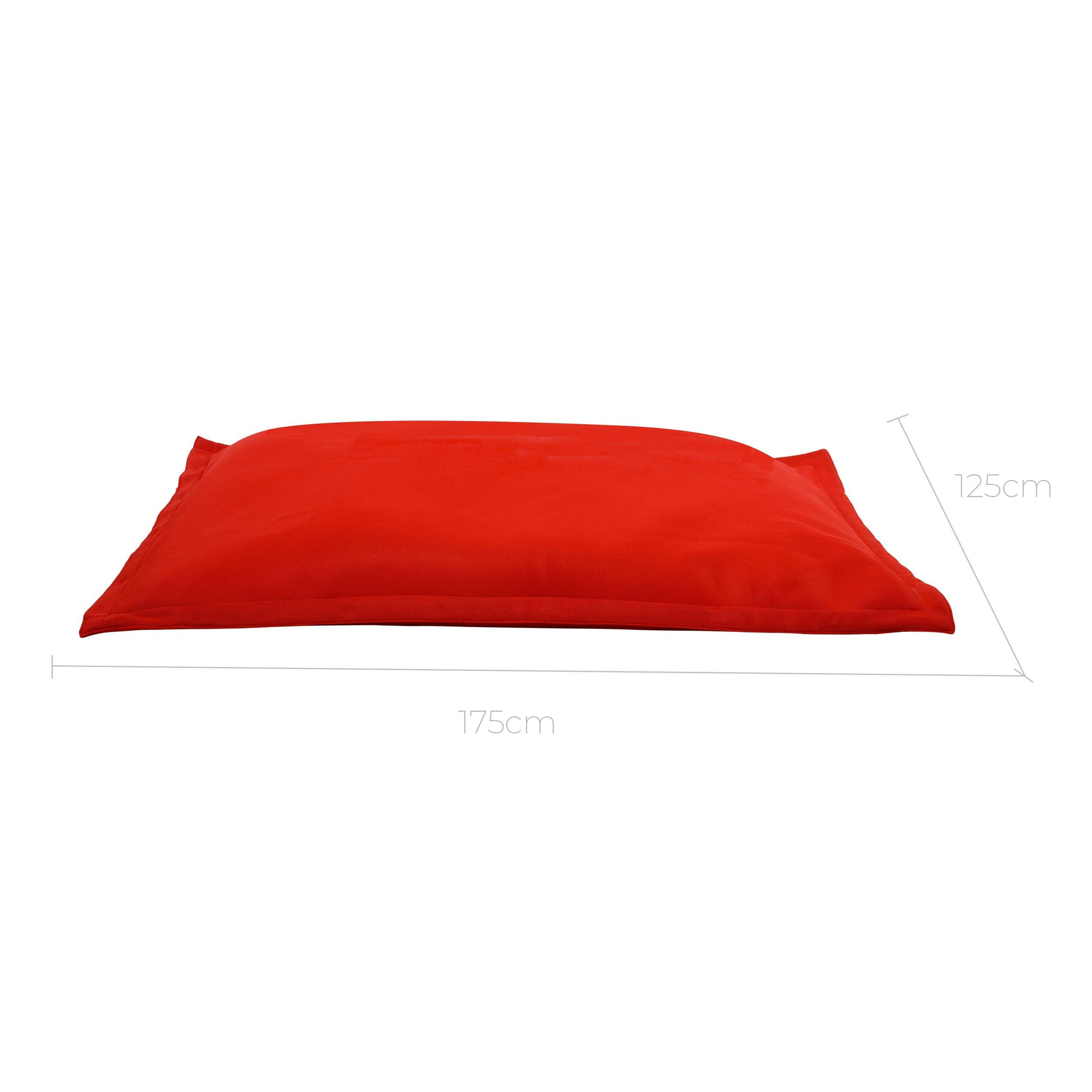 Coussin géant rouge Soledad : craquez pour nos coussins géants ...