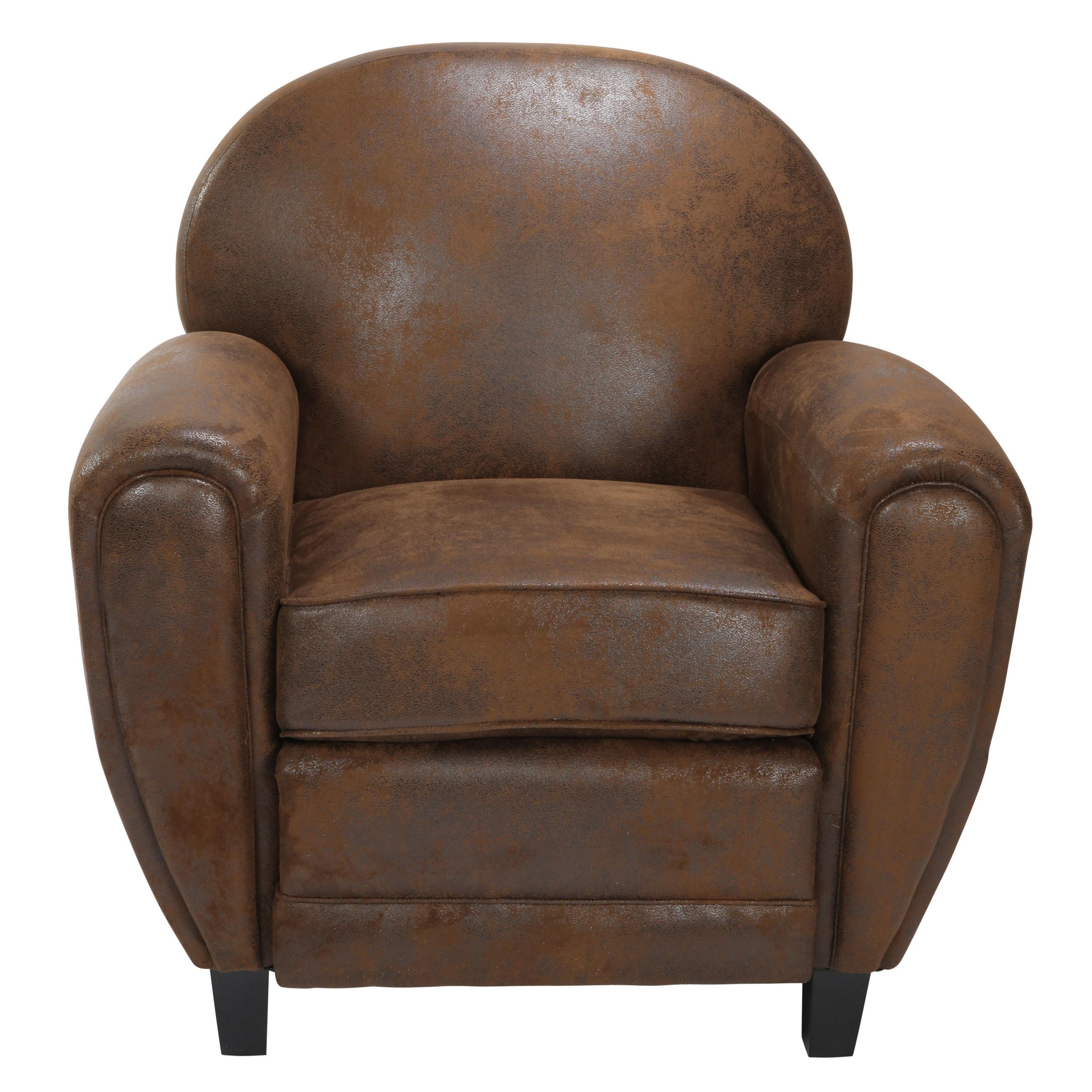 fauteuil club marron vieilli offrez vous un club prix usine rdv d co. Black Bedroom Furniture Sets. Home Design Ideas