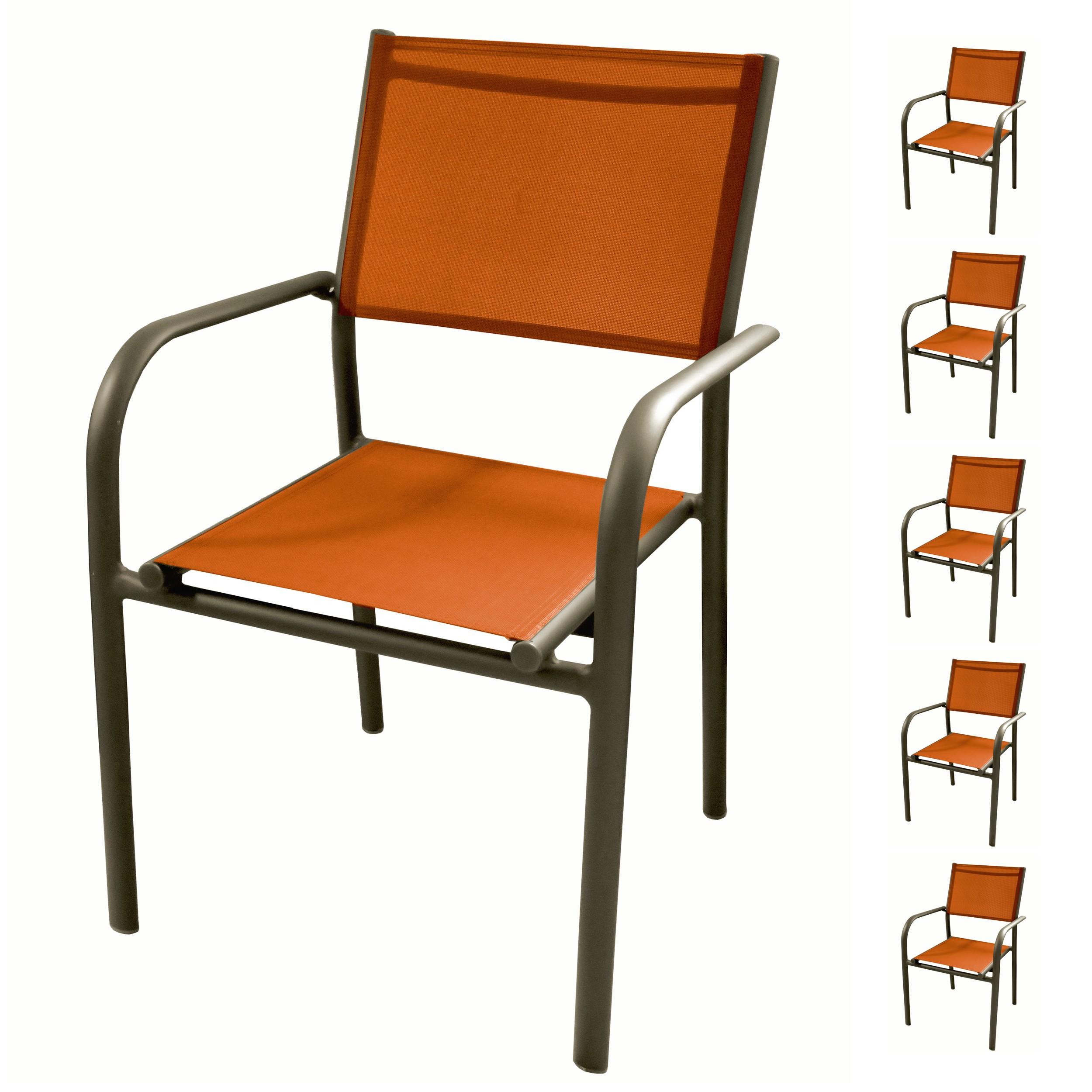 acheter fauteuil de jardin orange