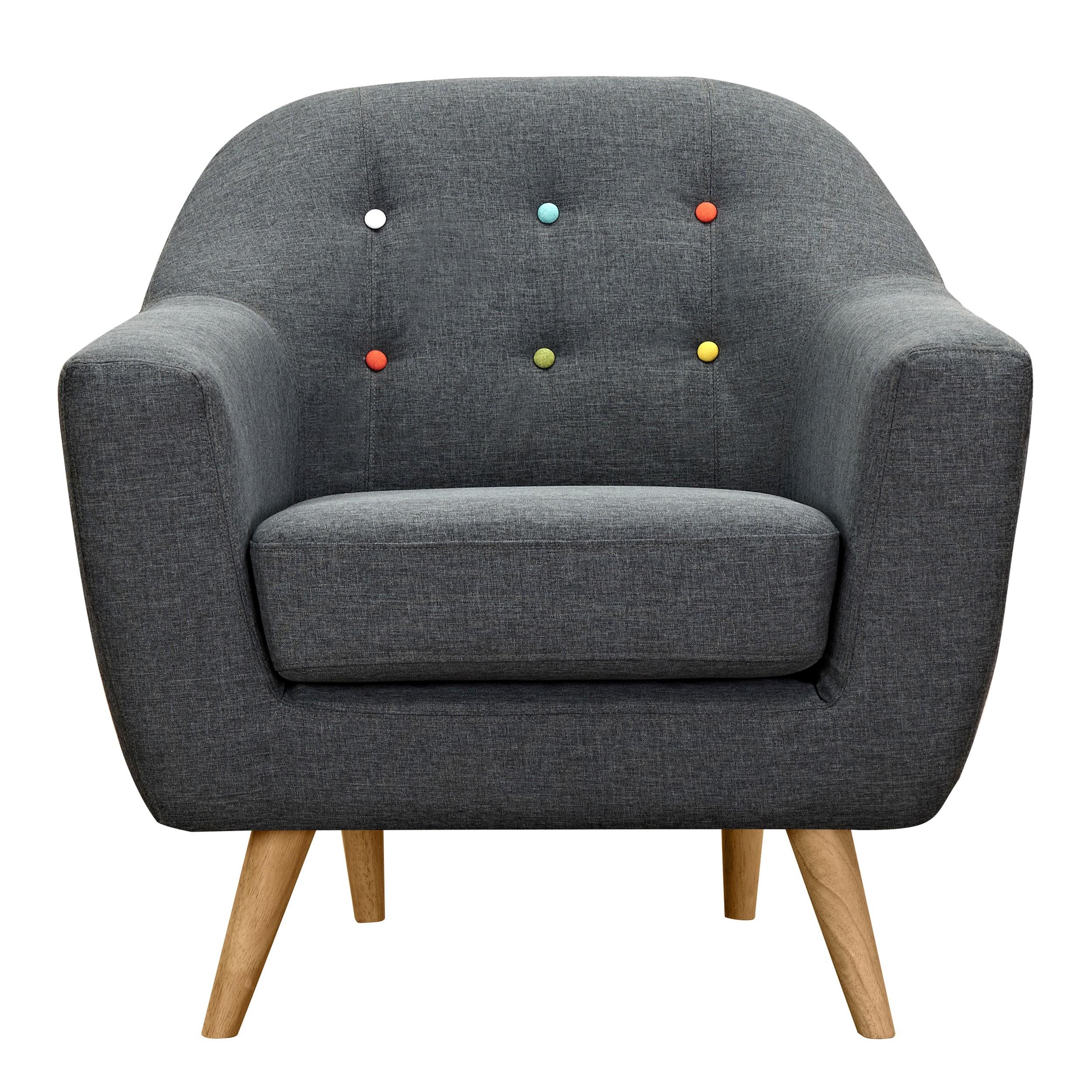 Fauteuil Rio gris foncé achetez nos fauteuils Rio gris foncé RDV Déco