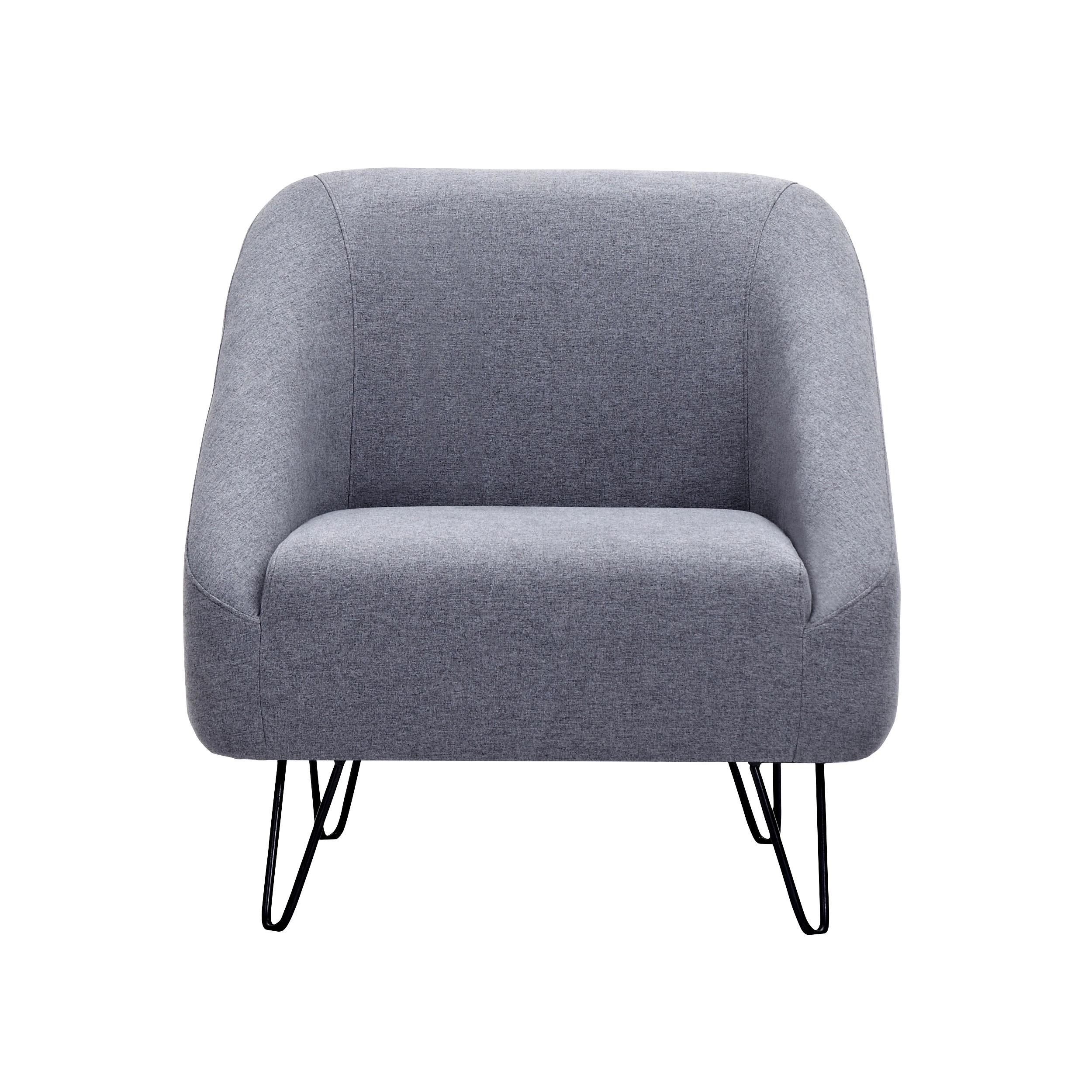 Fauteuil Bakki gris foncé adoptez les fauteuils Bakki gris foncé