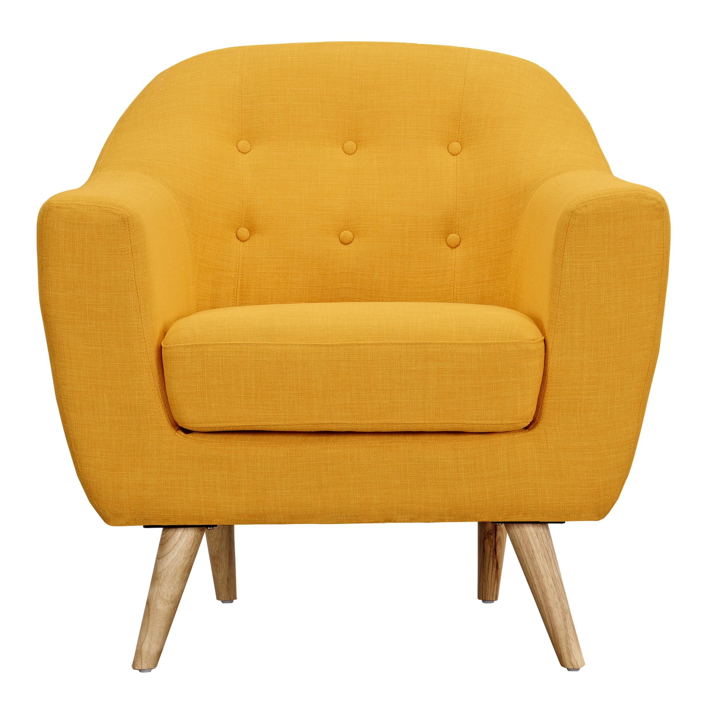 acheter fauteuil jaune confort - Fauteuil Jaune Scandinave