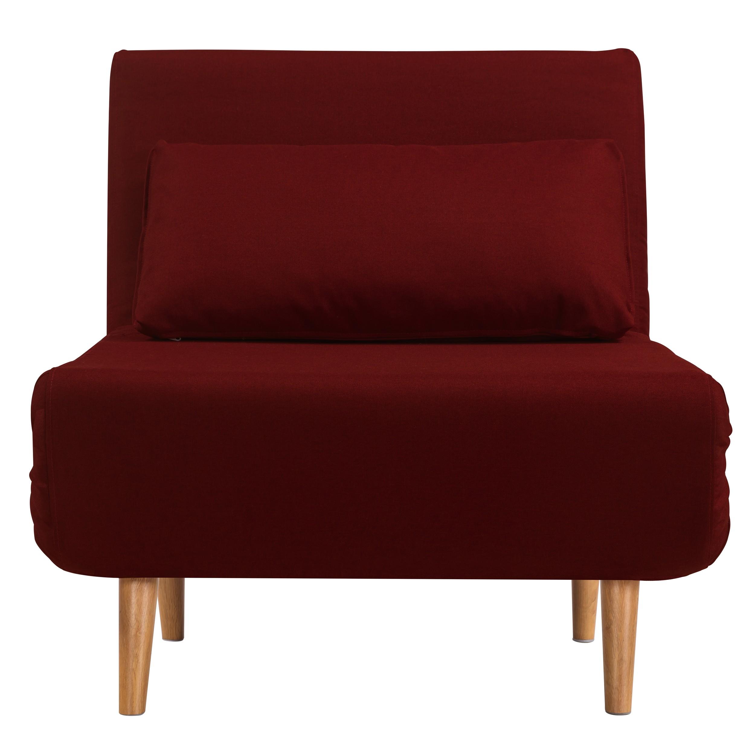acheter fauteuil rouge tissu convertible