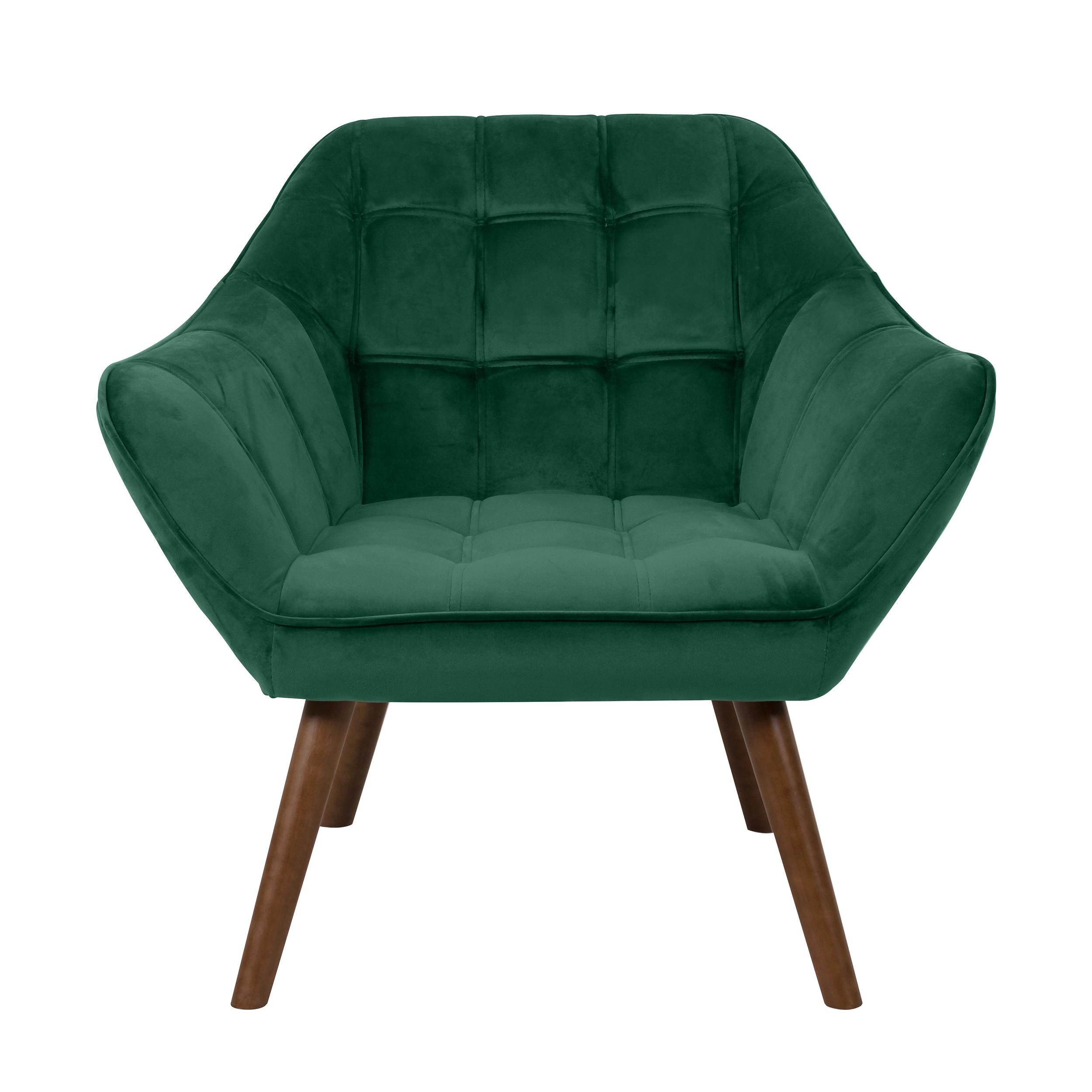 acheter fauteuil vert fonce velours