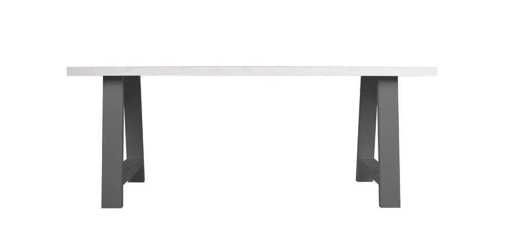 table 180 cm bicolore grise et blanche choisissez nos tables 180 cm bicolores grises et. Black Bedroom Furniture Sets. Home Design Ideas