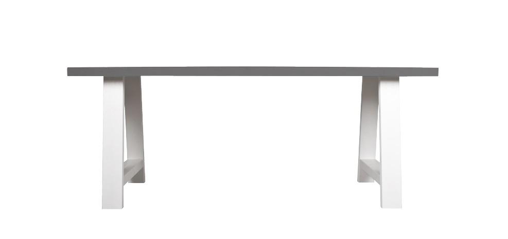table 200 cm landes blanche et grise : achetez nos tables 200 cm