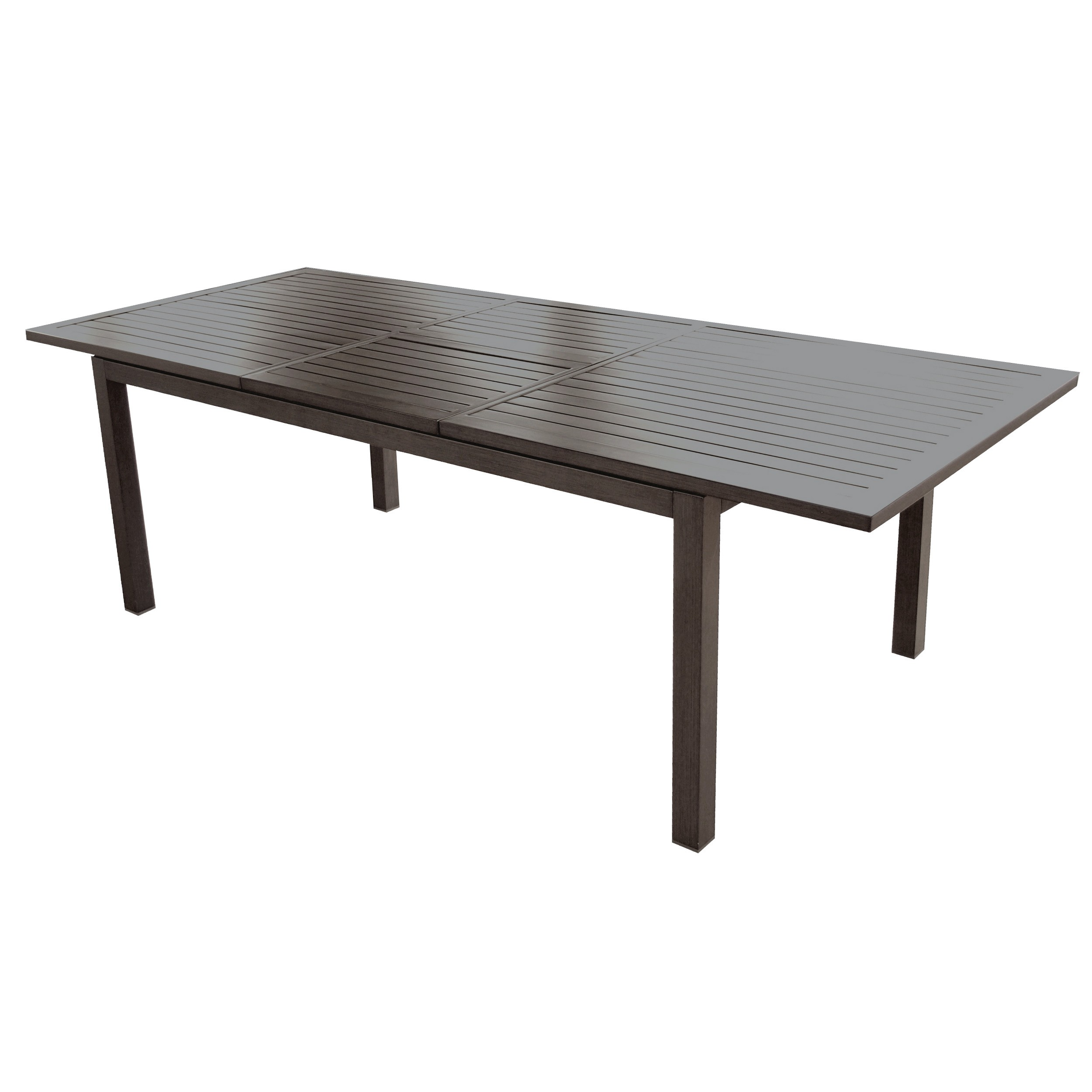 table de jardin extensible 240 cm mahana taupe achetez On les grandes tablees table extensible