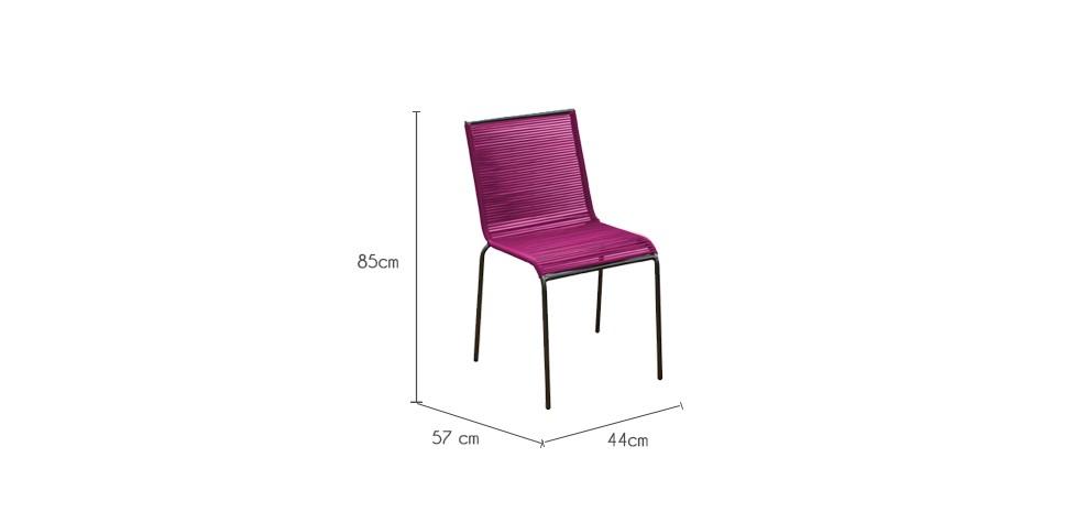 chaise de jardin chacabuco rose lot de2 d tendez vous dans nos chaises de jardin chacabuco. Black Bedroom Furniture Sets. Home Design Ideas