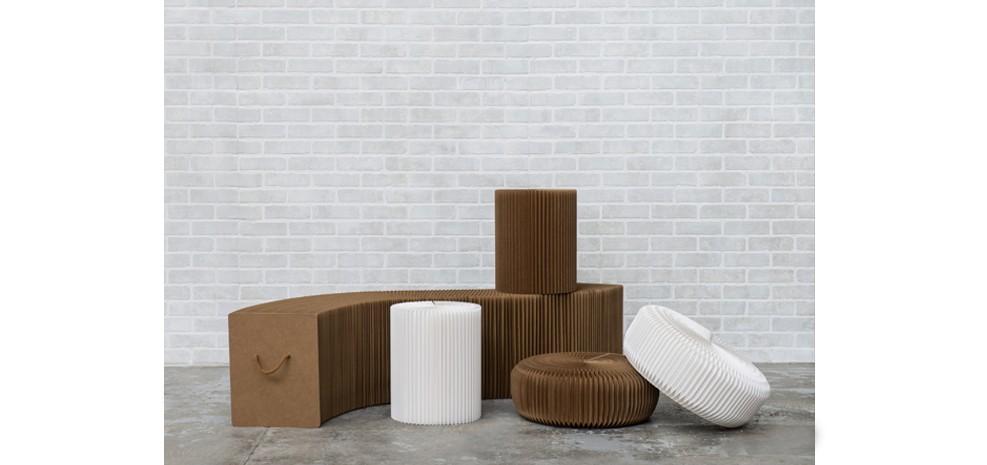 Pouf evora blanc en carton poufs evora blanc en carton rdv d co - Acheter meubles en carton ...