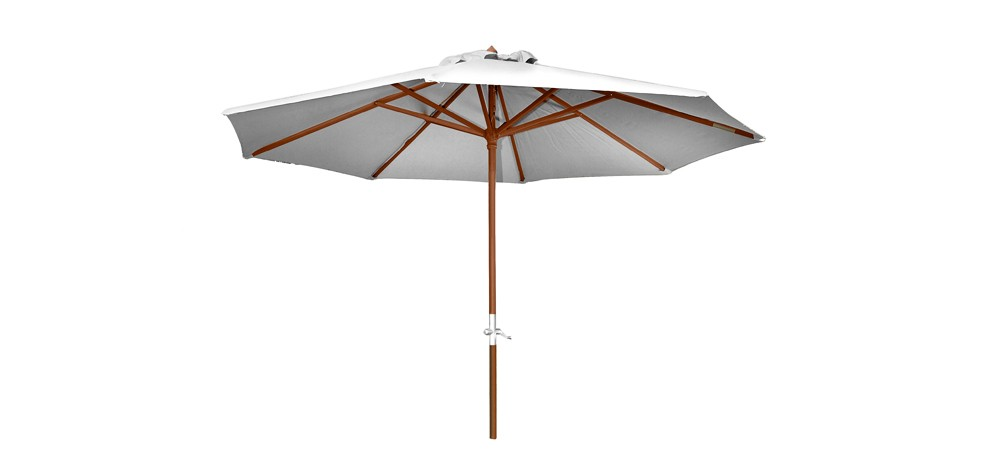 parasol en bois biarritz cru commandez nos parasols en. Black Bedroom Furniture Sets. Home Design Ideas