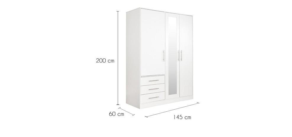Armoire blanche 3 portes roma installez nos armoires blanches 3 portes roma chez vous rdv d co - Acheter armoire pas cher ...