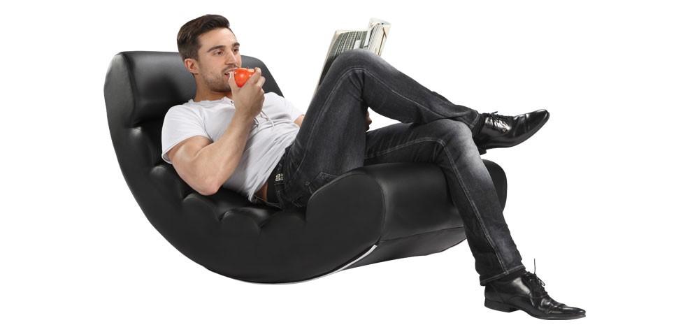 fauteuil bascule noir testez nos fauteuils bascule noirs prix mini rdv d co. Black Bedroom Furniture Sets. Home Design Ideas