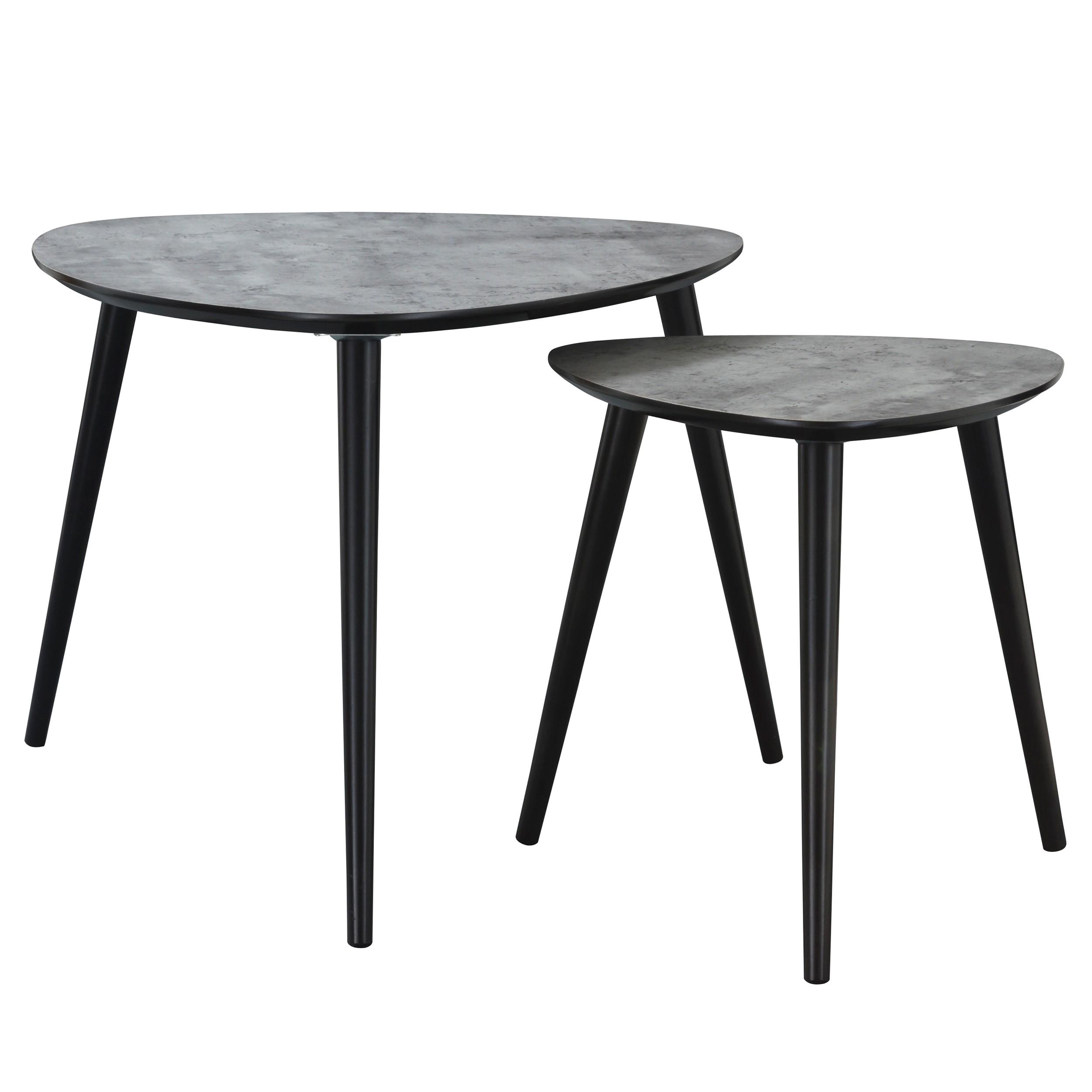 table basse scandinave effet b ton lot de 2 commandez. Black Bedroom Furniture Sets. Home Design Ideas