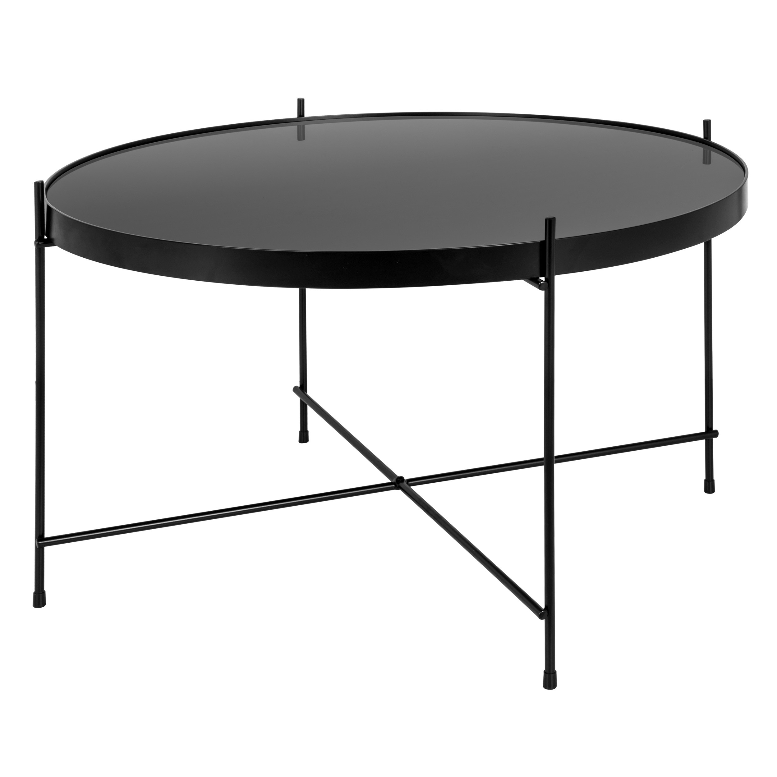table basse ronde valdo noire m testez nos tables basses. Black Bedroom Furniture Sets. Home Design Ideas