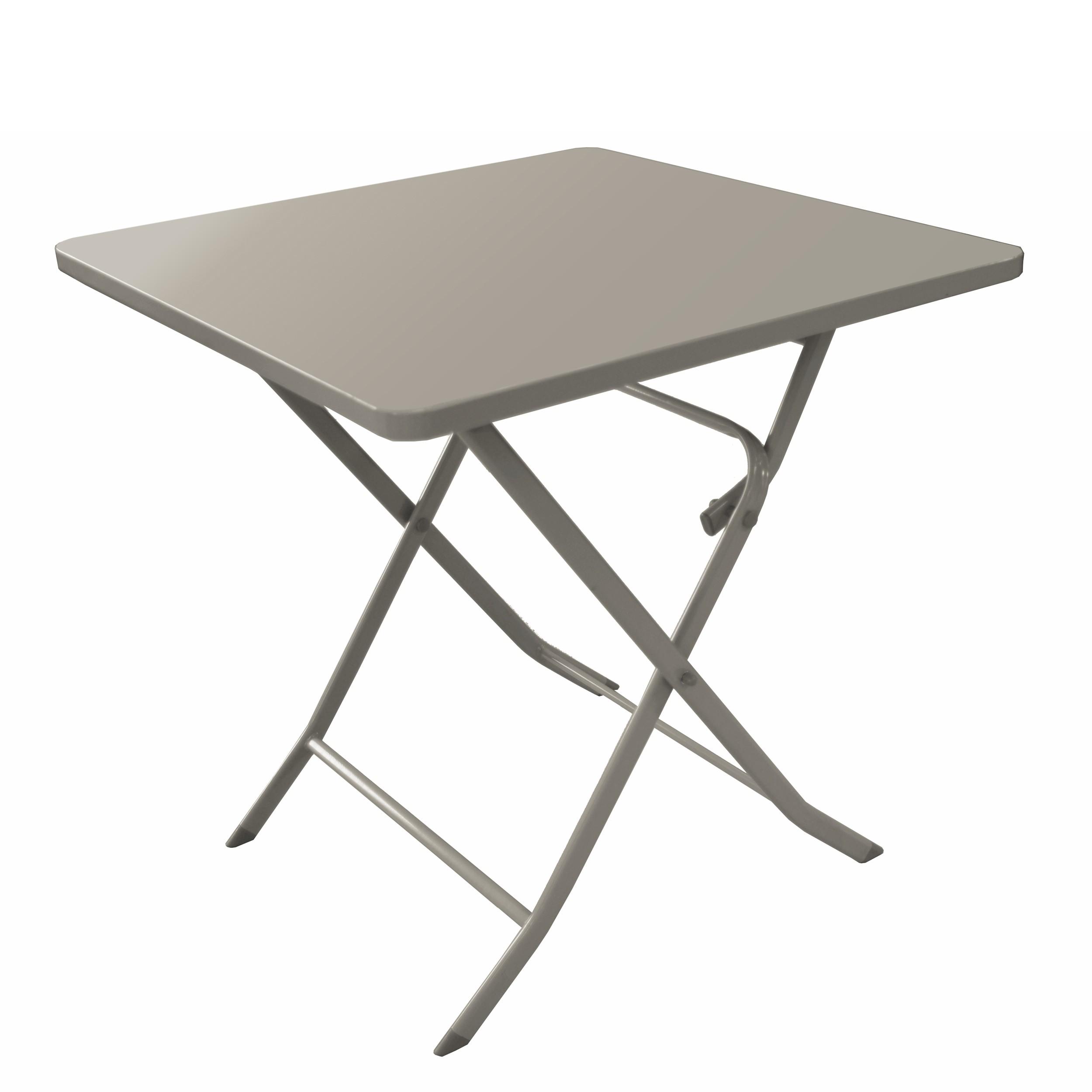 Table de jardin Mérida gris argent 70 cm : commandez nos tables de ...