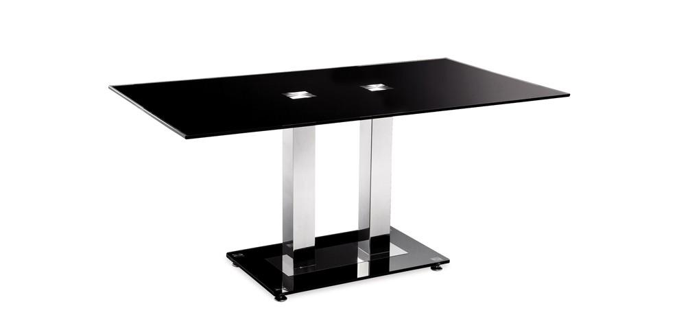 Table en verre noir futura achetez nos tables en verre - Table en verre noir ...