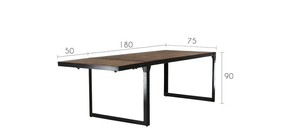 table de repas factory avec rallonge disponibilit puis - Table De Repas Avec Rallonge