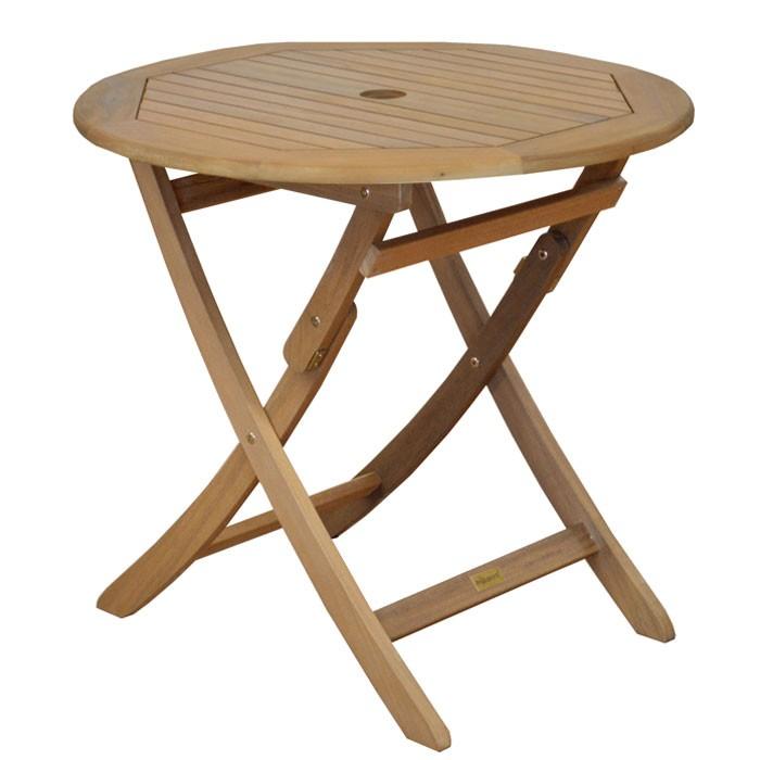 table de jardin ronde en bois cali optez pour nos tables de jardin rondes en bois cali rdv d co. Black Bedroom Furniture Sets. Home Design Ideas