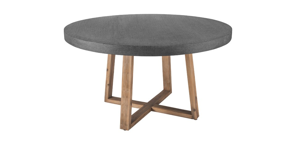 Table ronde tambora 140 cm essayez les tables rondes - Table ronde grise ...
