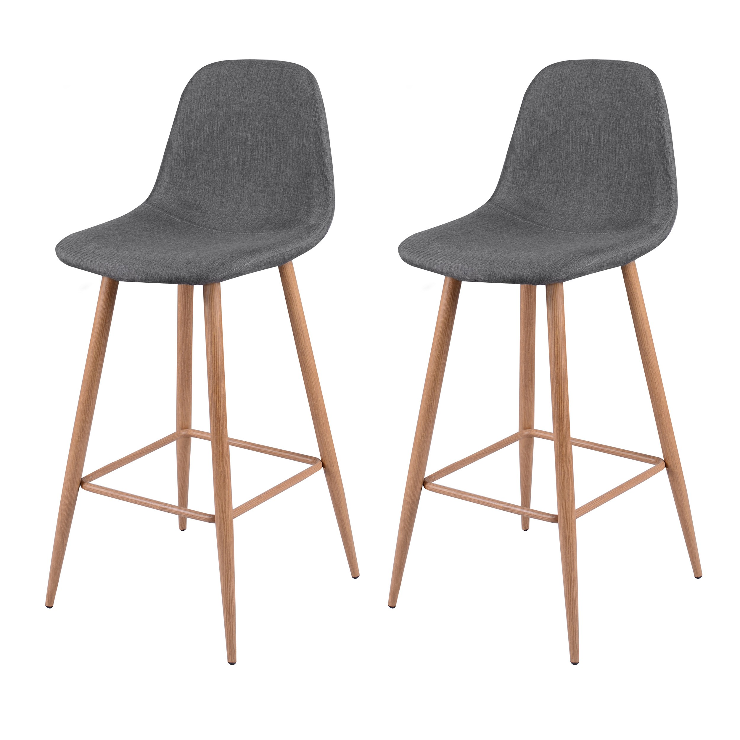 tabouret de bar fredrik gris lot de 2 optez pour les. Black Bedroom Furniture Sets. Home Design Ideas