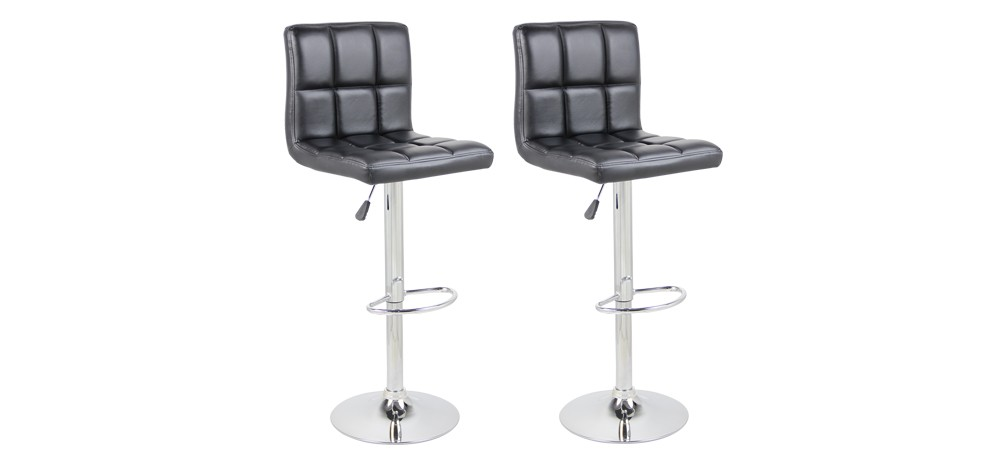 tabouret de bar jazz noir lot de2 achetez nos tabourets de bar jazz noirs lot de 2 rdv d co. Black Bedroom Furniture Sets. Home Design Ideas