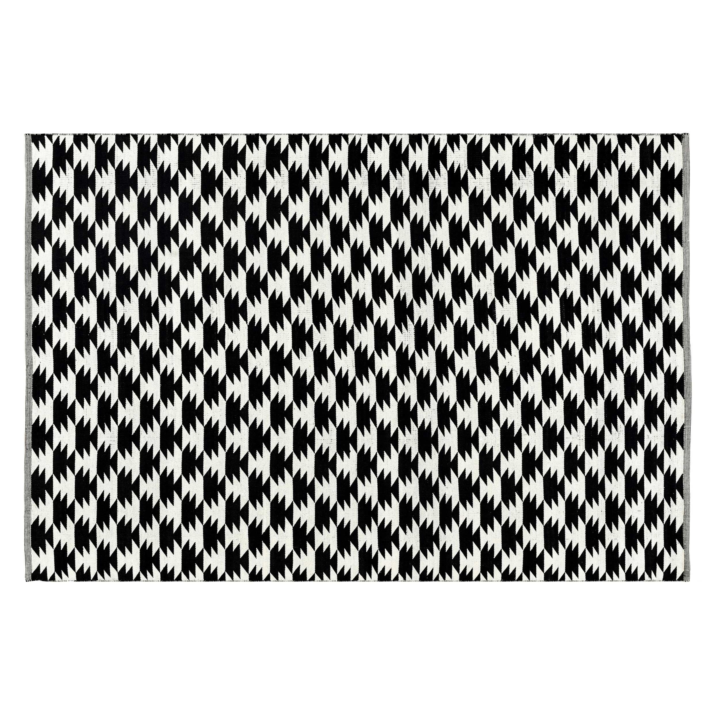 acheter tapis noir et blanc 160 x 230 cm