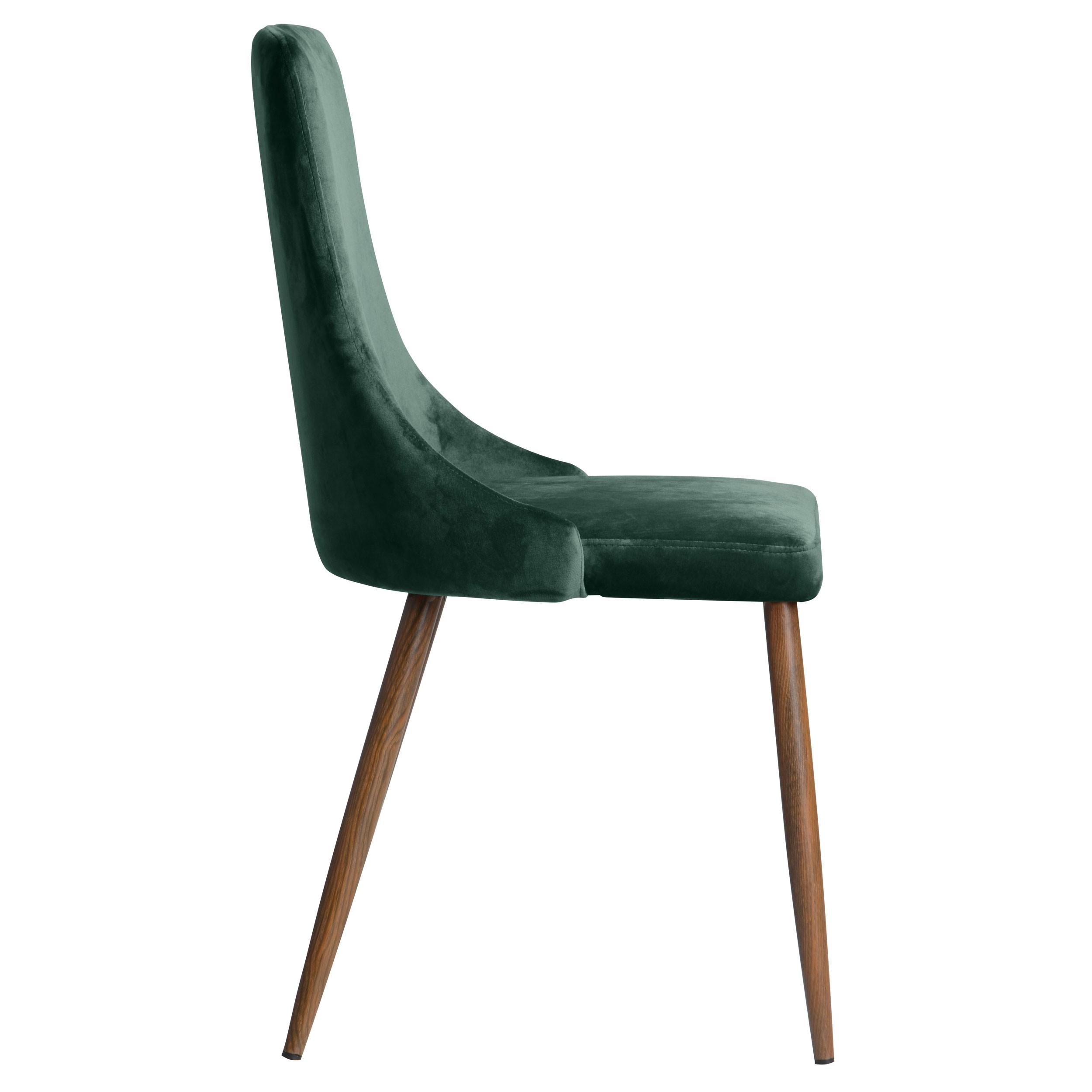 Chaise vinni en velours vert lot de 2 commandez nos chaises vinni en velours vert rdv d co - Prix d un rempaillage de chaise ...