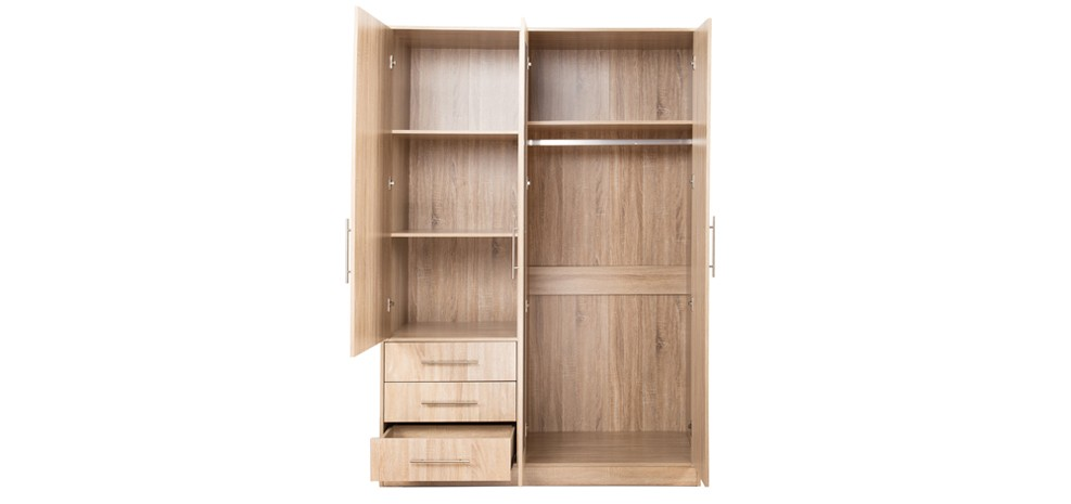 armoire ch ne 3 portes roma craquez pour nos armoires. Black Bedroom Furniture Sets. Home Design Ideas