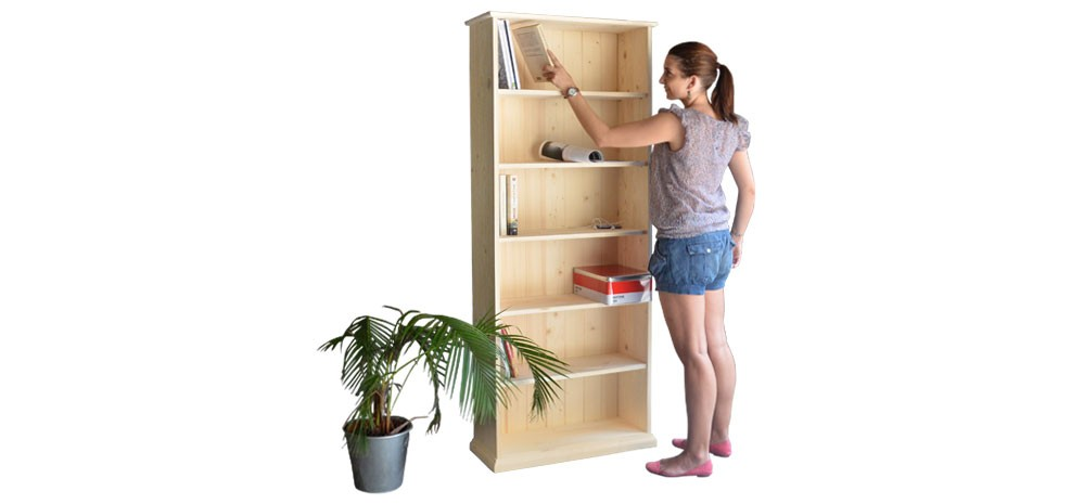Biblioth?que Bois Brut : bibliotheque bois brut