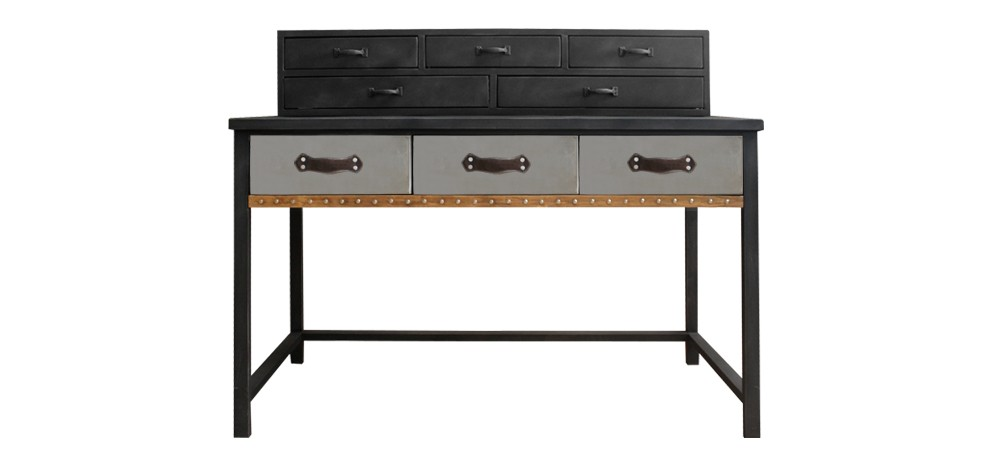 bureau en m tal commandez nos bureaux en m tal style industriel rdvd co. Black Bedroom Furniture Sets. Home Design Ideas
