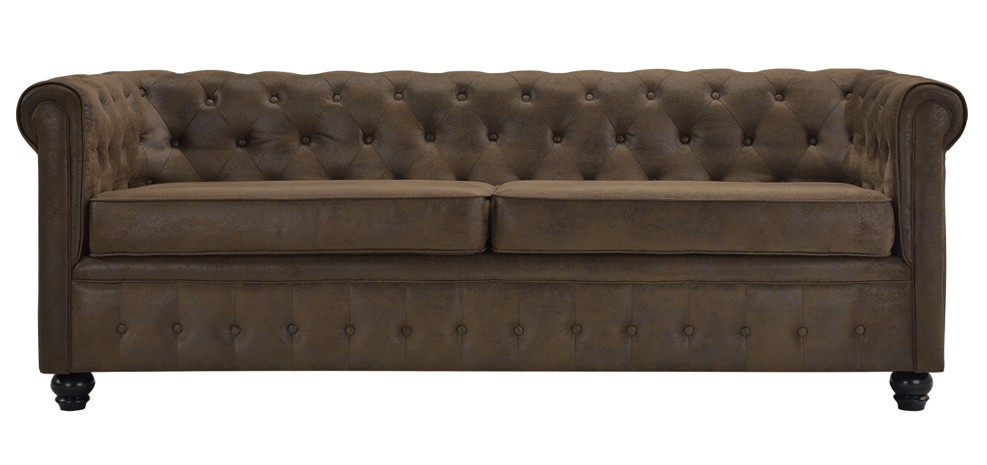 Canap chesterfield 3 places commandez nos canap s chesterfield 3 places de - Canape marron vieilli ...
