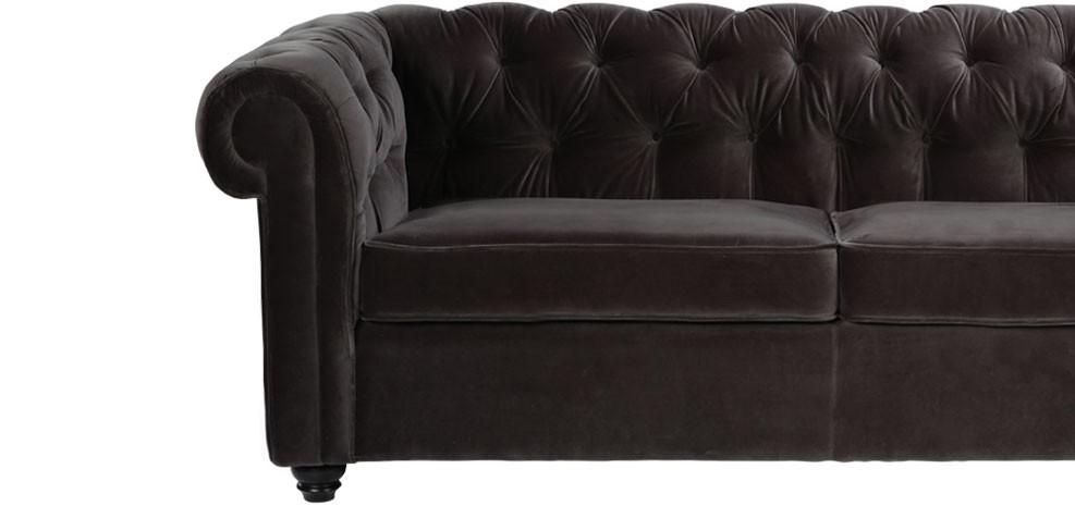 Canapé Chesterfield: optez pour un canapé en velours - RDV Déco