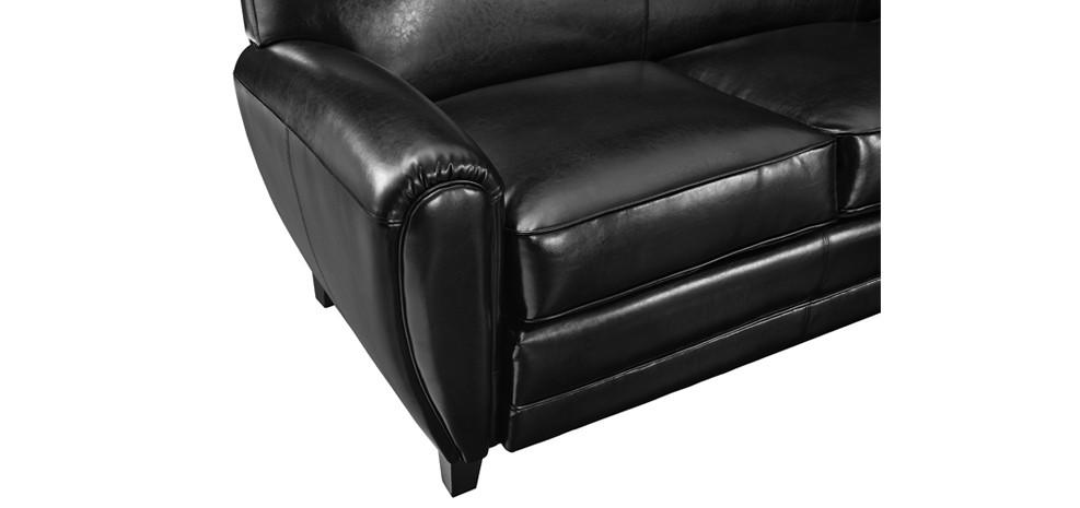 canap club 3 places cuir noir installez nos canap s club 3 places cuir noirs chez vous rdv d co. Black Bedroom Furniture Sets. Home Design Ideas