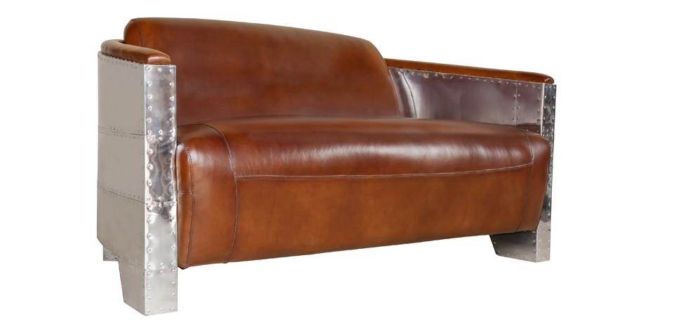 acheter canape cuir aluminium design