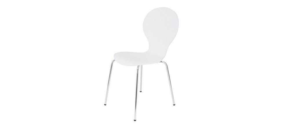 chaise blanche abiel achat de chaise design avec rendez vous d co. Black Bedroom Furniture Sets. Home Design Ideas